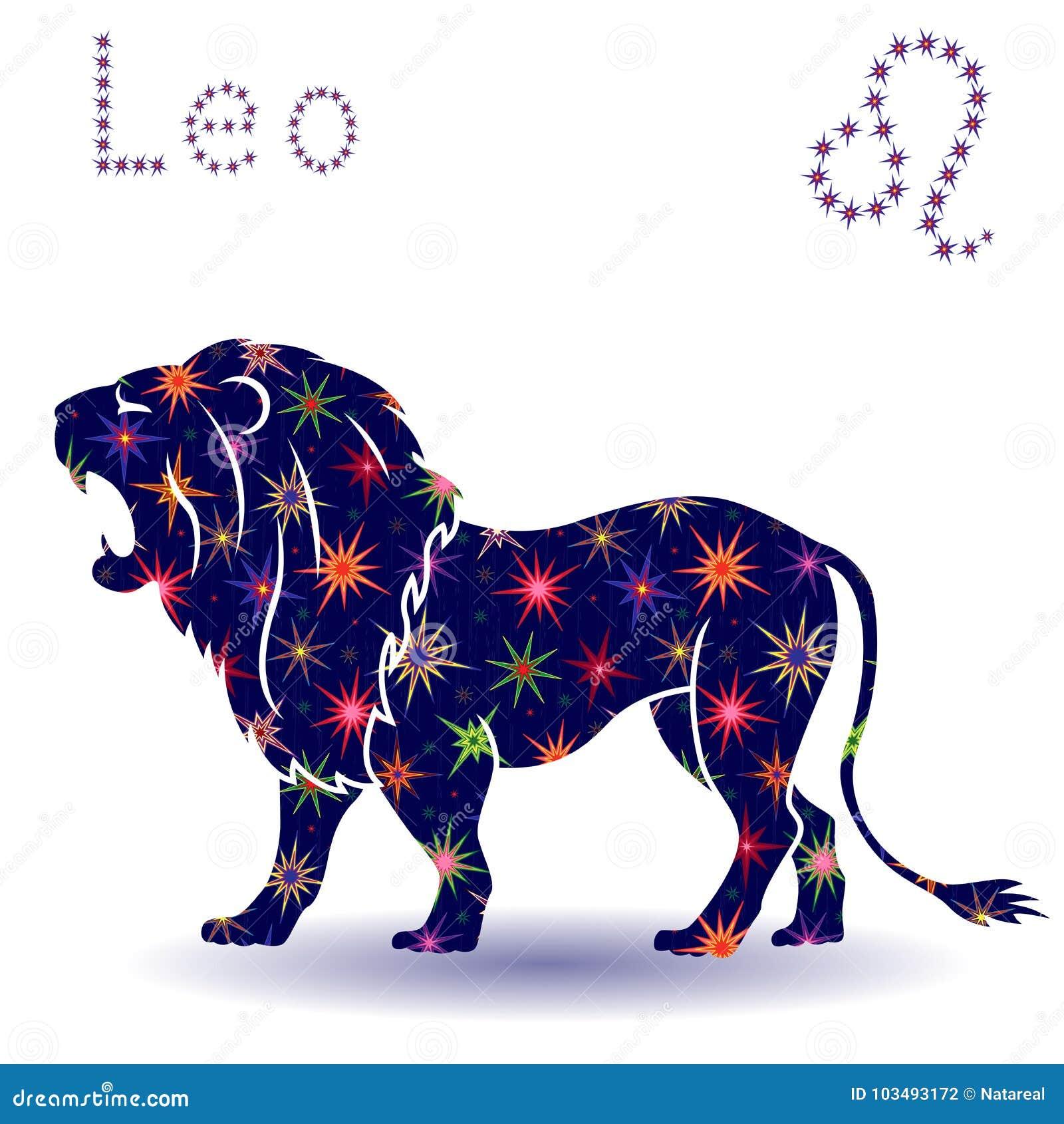 Estêncil do Leão do sinal do zodíaco