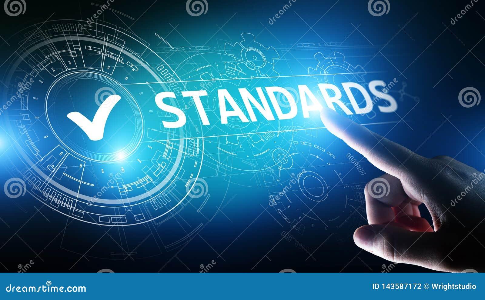 Est?ndar Control de calidad Certificaci?n, garant?a y garant?a del ISO Concepto de la tecnolog?a del negocio de Internet