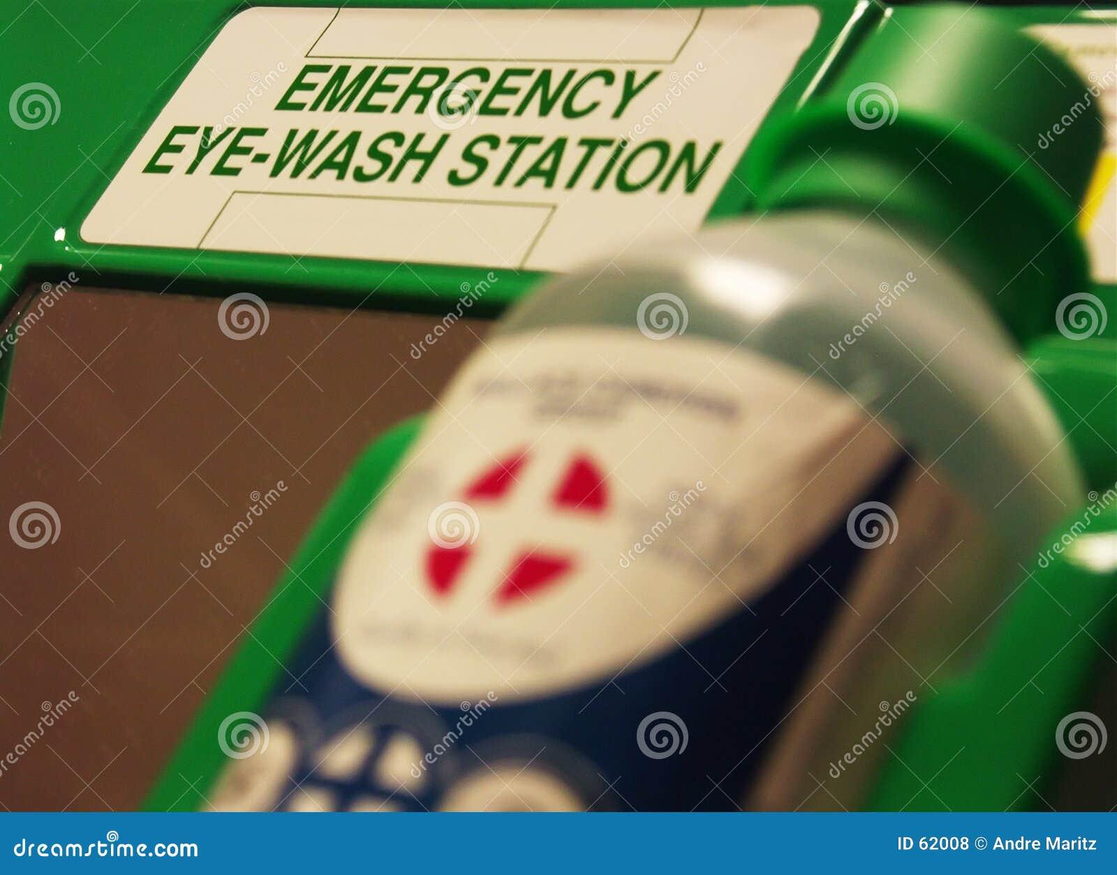 Estação da lavagem do olho