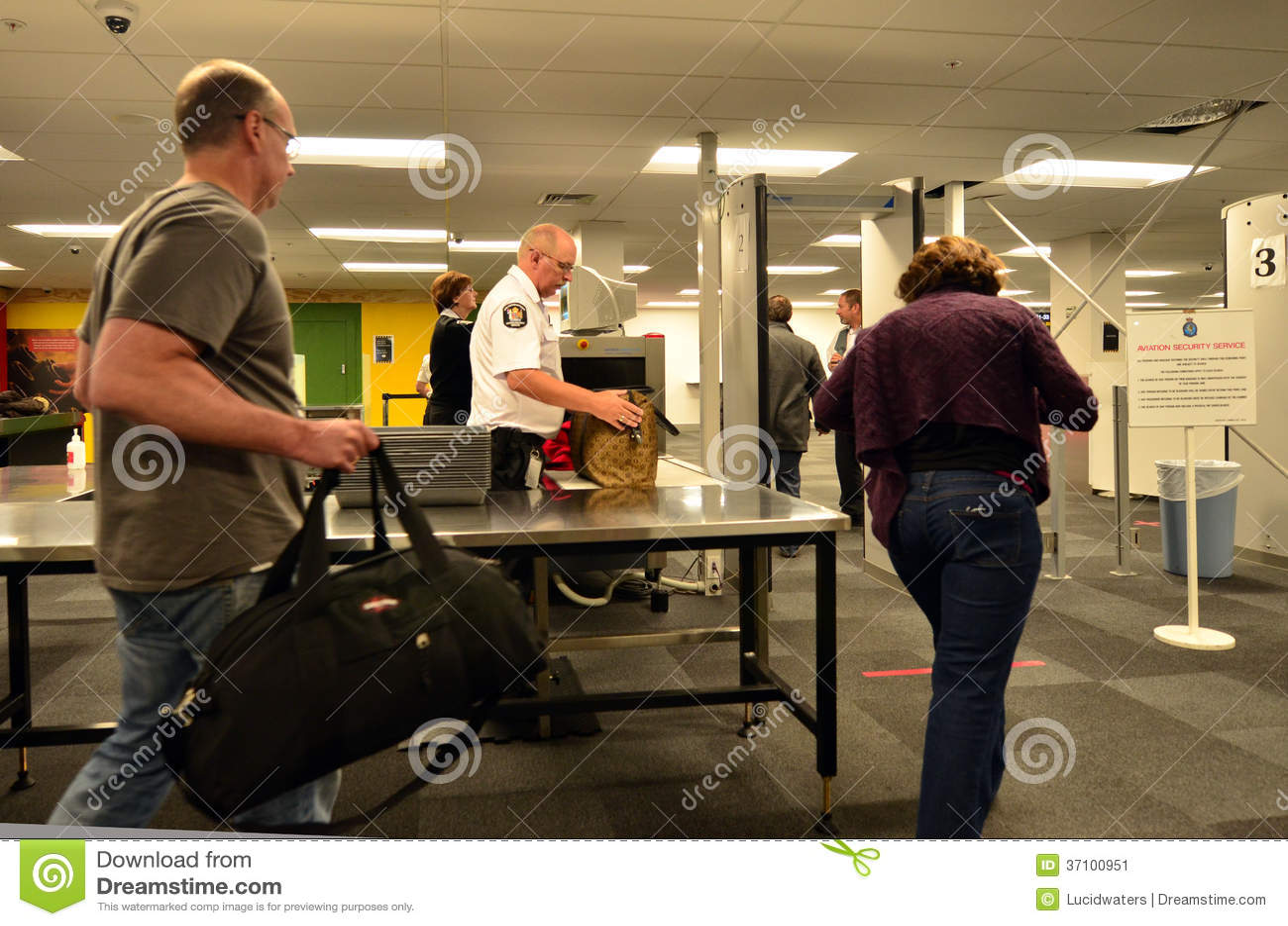 Estação da segurança aeroportuária