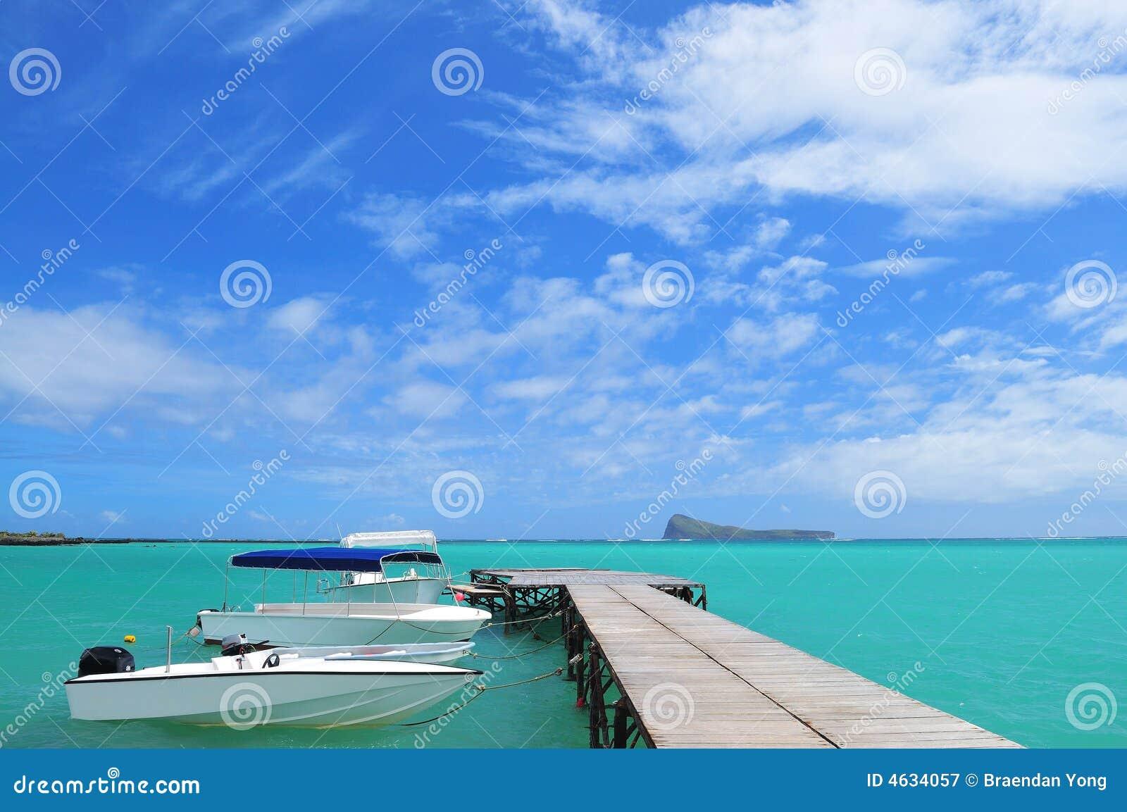 Estação de aterragem do barco
