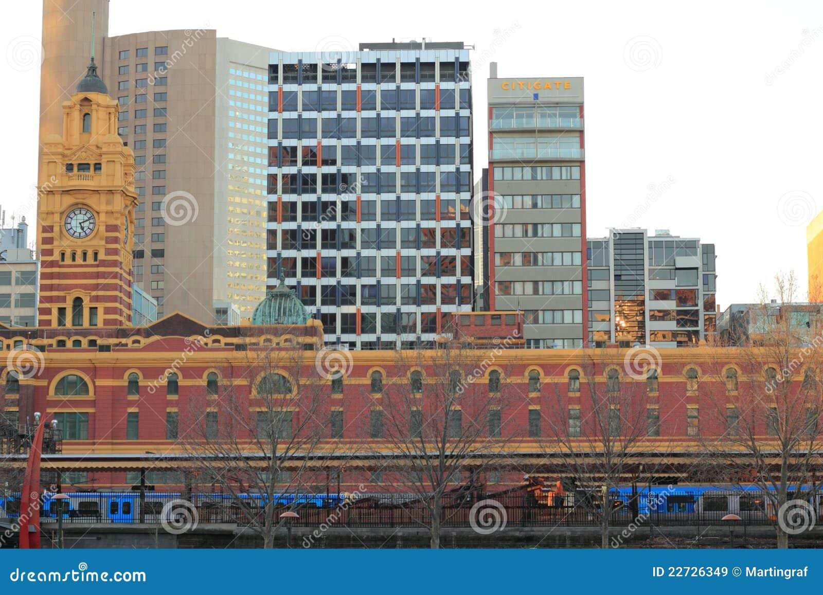 Estação de comboio do St de Flinder de Melbourne
