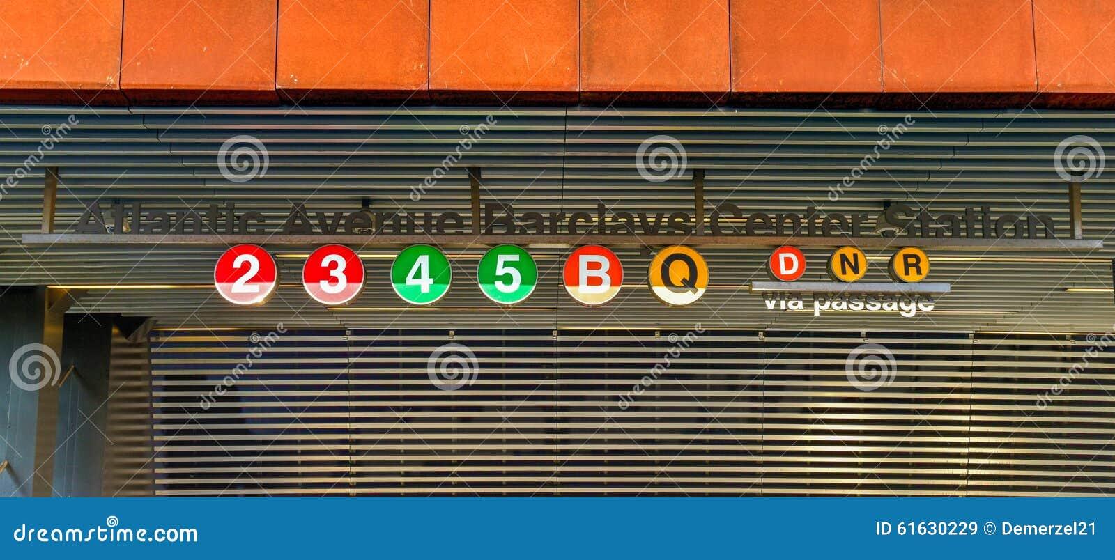 Estação de metro do centro de Barclays