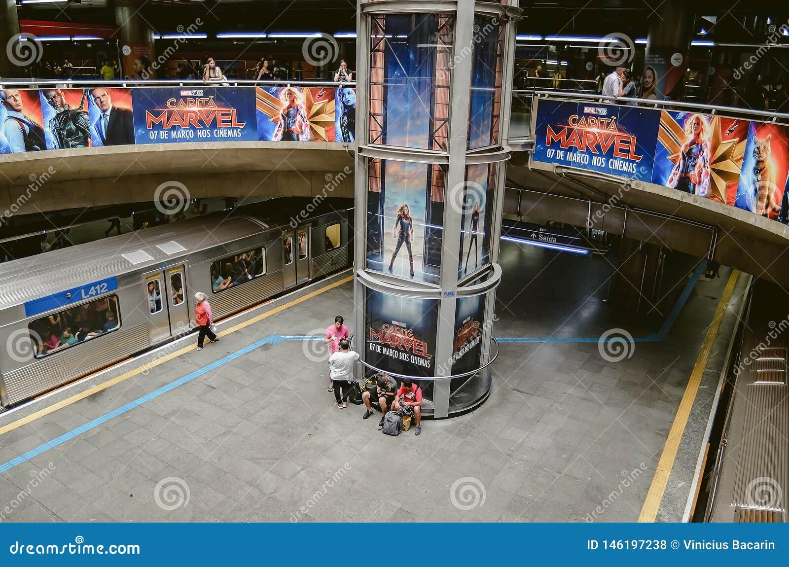 Estação de metro de Sé em SP Brasil de Sao Paulo