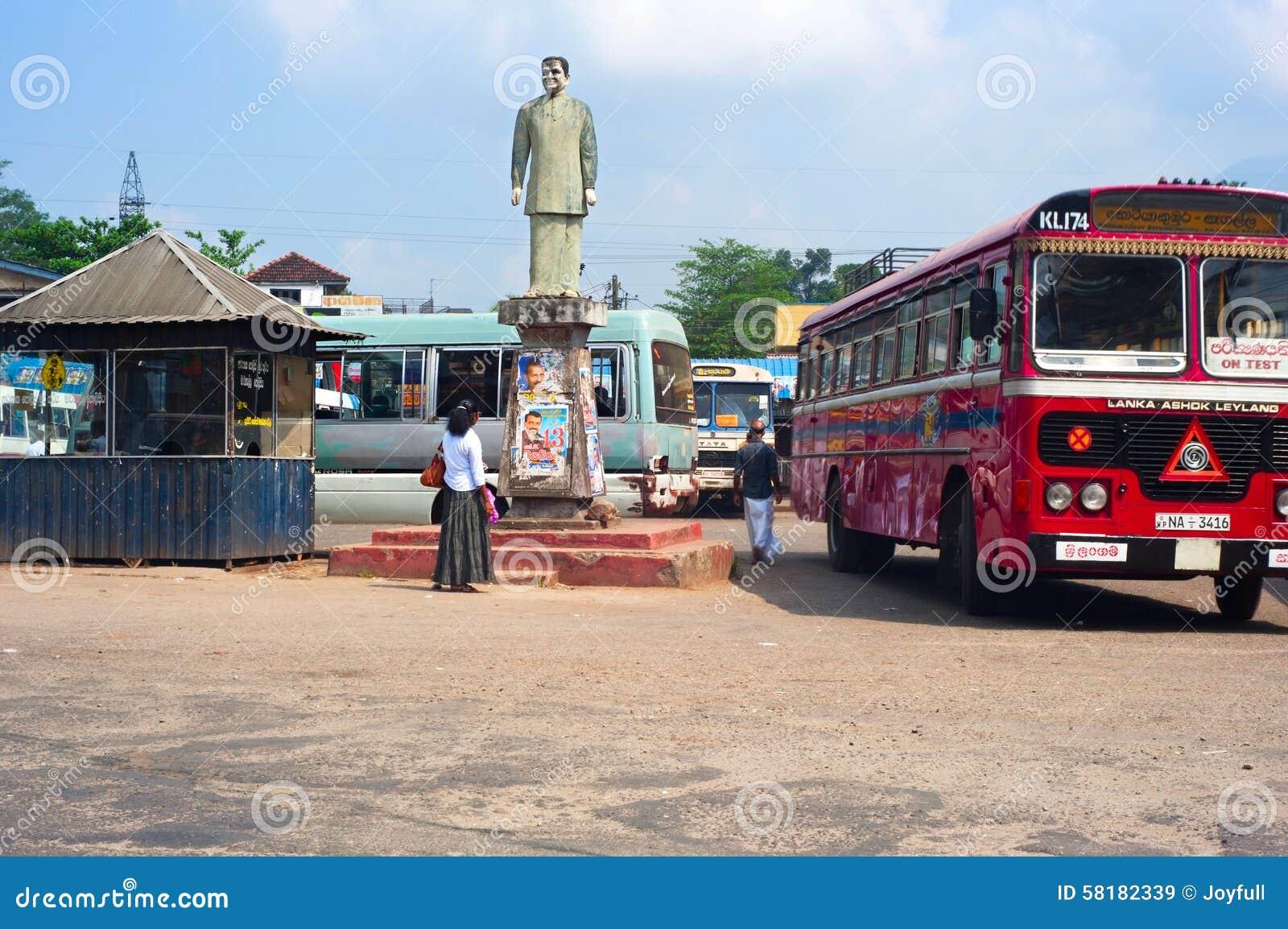 Estação de ônibus de Sri Lanka