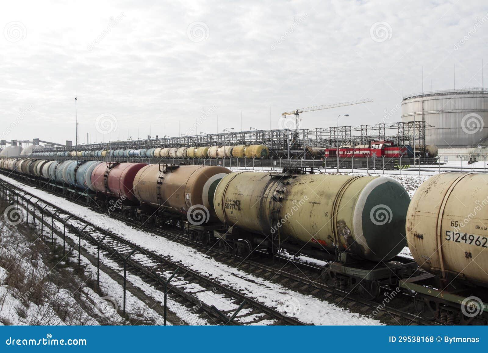 Estação de transferência da carga do petróleo