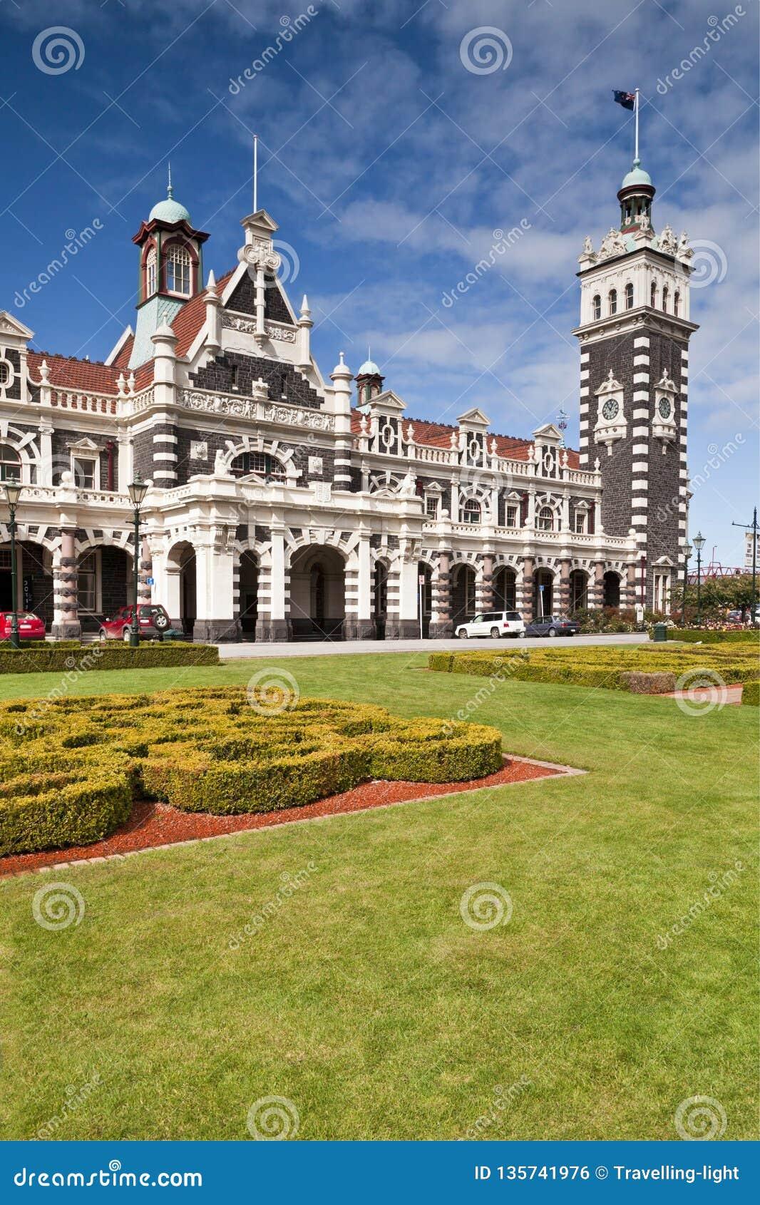 Estação de trem Nova Zelândia de Dunedin