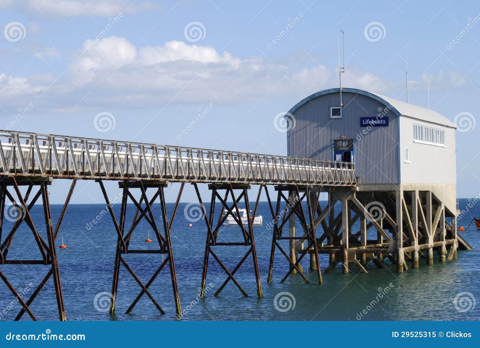 Estação do barco salva-vidas em Selsey. Sussex. Reino Unido
