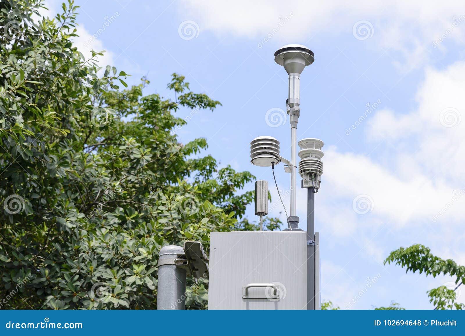 A estação do detector da poluição
