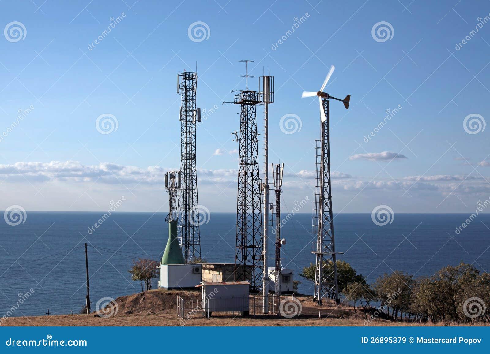 Estação independente das telecomunicações