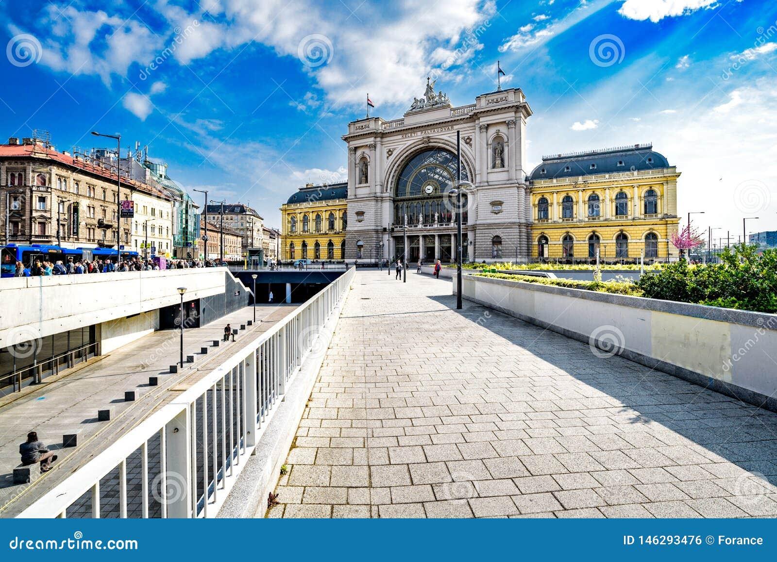 Esta??o de trem de Keleti em Budapest