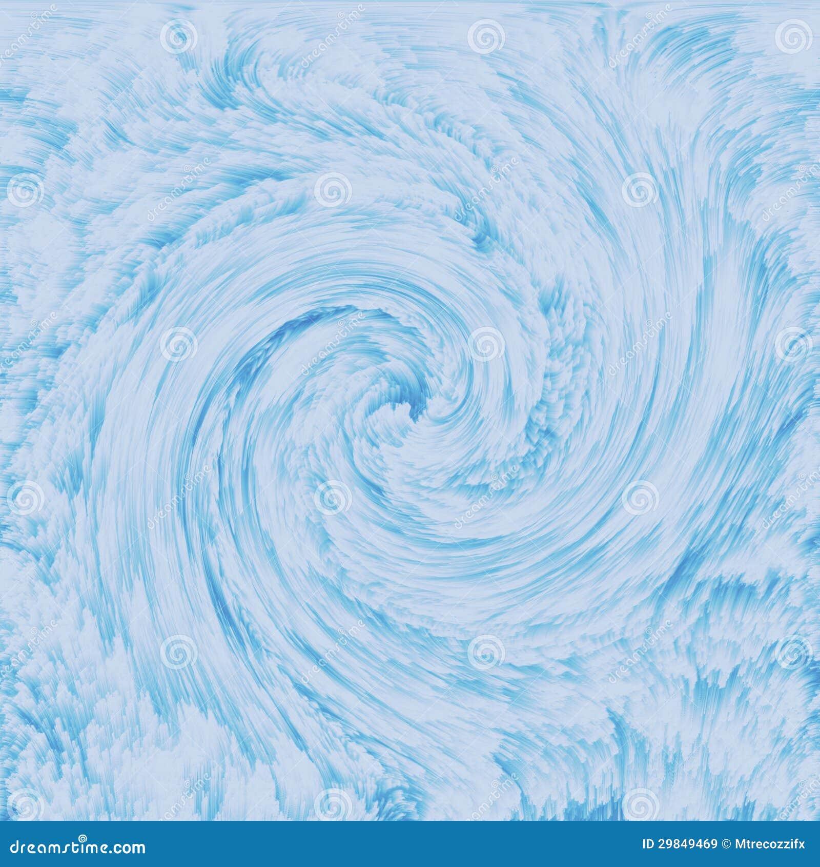 Textura azul Wispy sonhadora do redemoinho do fluff