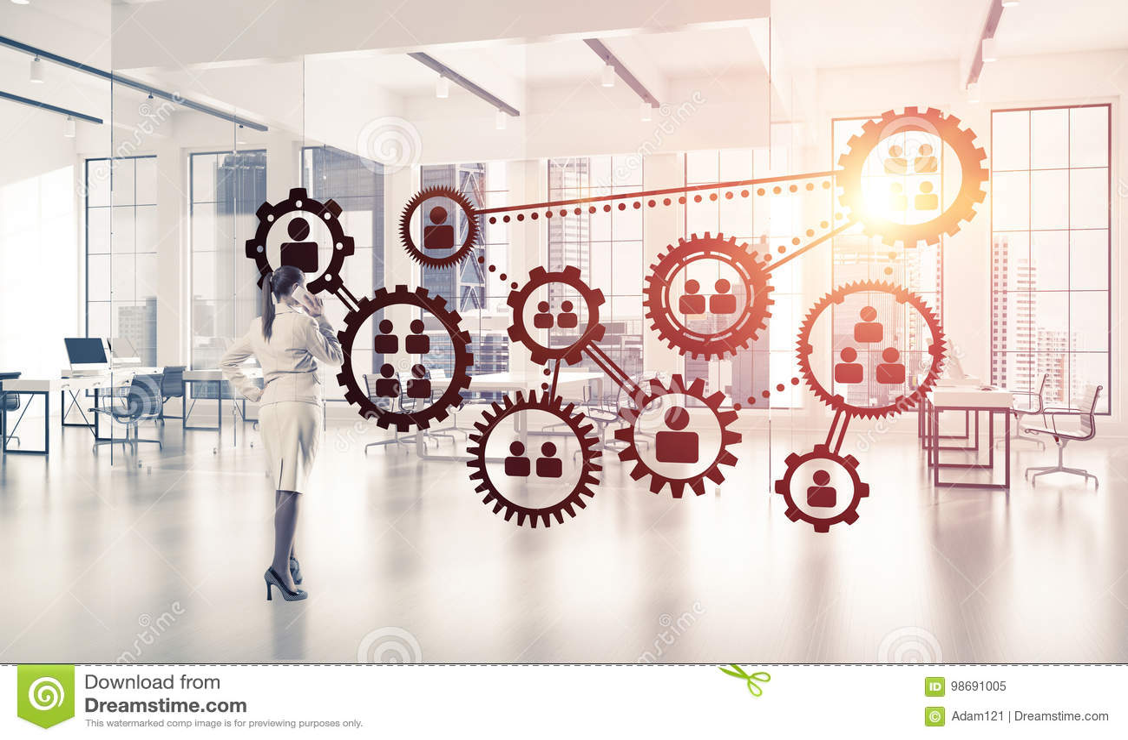 Establecimiento de una red y concepto social de la comunicación como punto eficaz f