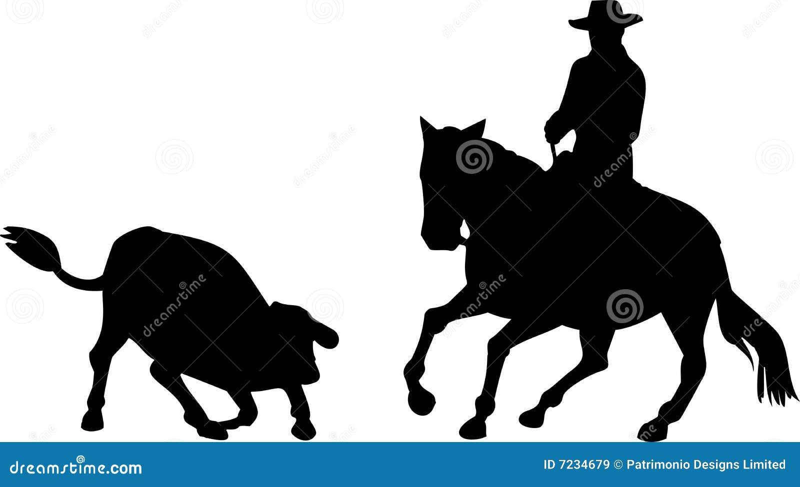 Estaca Do Cavalo Do Cowboy Do Rodeio Imagens De Stock