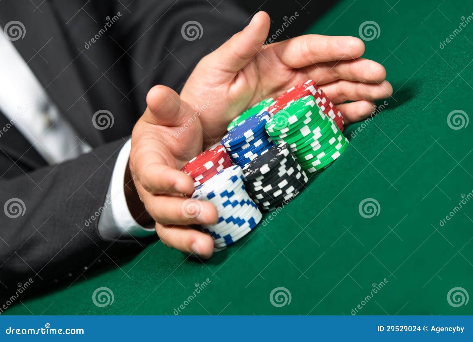 Estacas do jogador de póquer