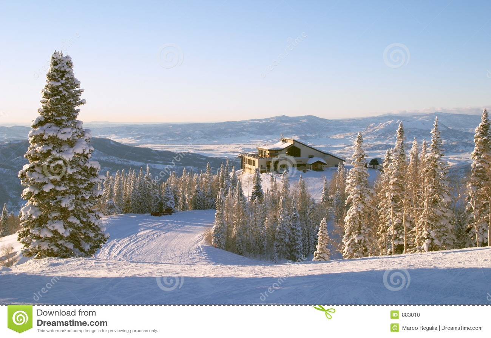 Estación de esquí del barco de vapor, Colorado