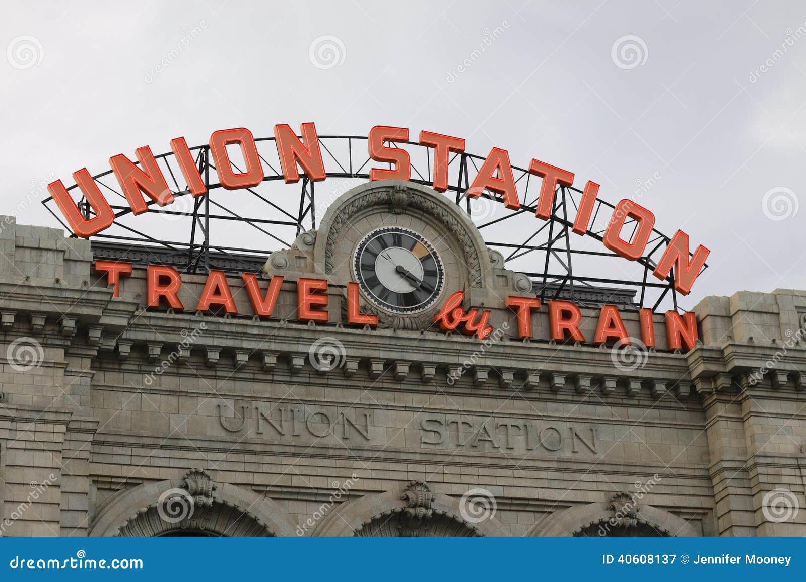 Estación de la unión en Denver céntrica