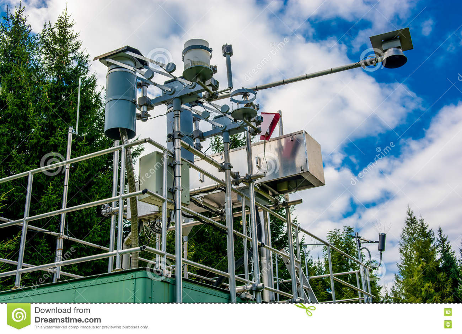 Estación de medición para la calidad y el tiempo del aire