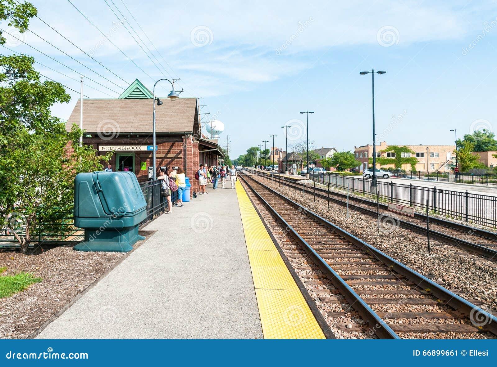Estación de Northbrook Metra, los E.E.U.U.
