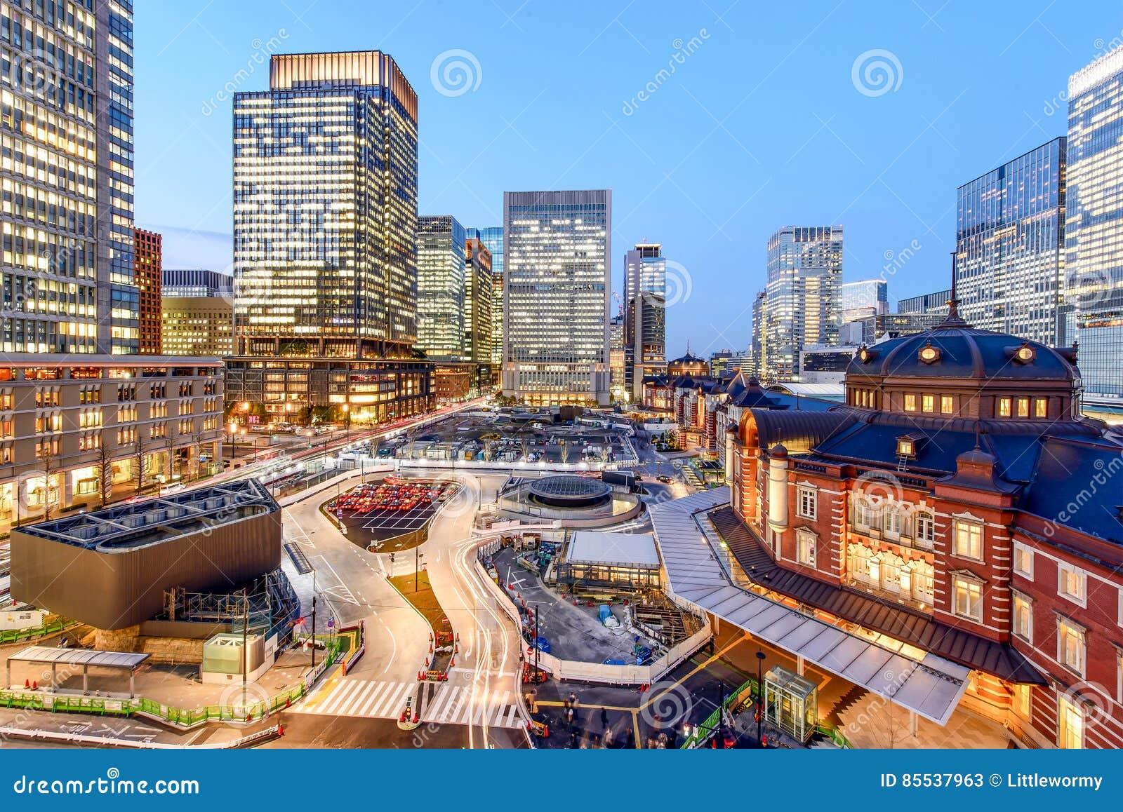Estación de Tokio en el negocio del marunouchi