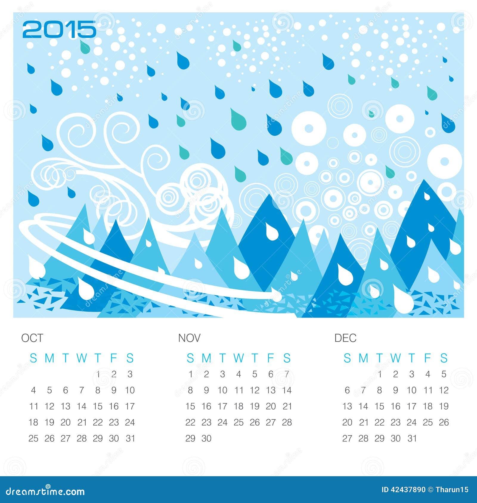 Estación del invierno - calendario del concepto