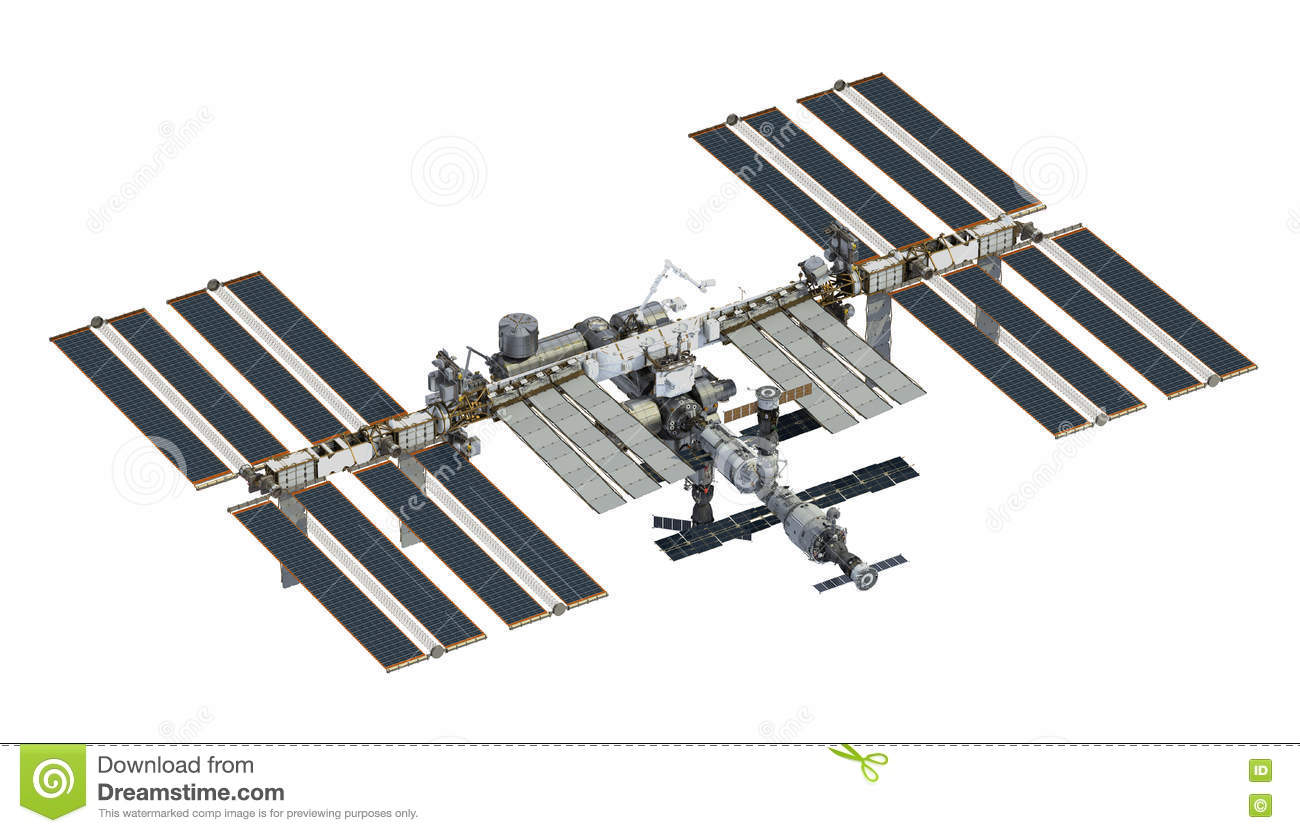 It's just a graphic of Ridiculous International Space Station Drawing