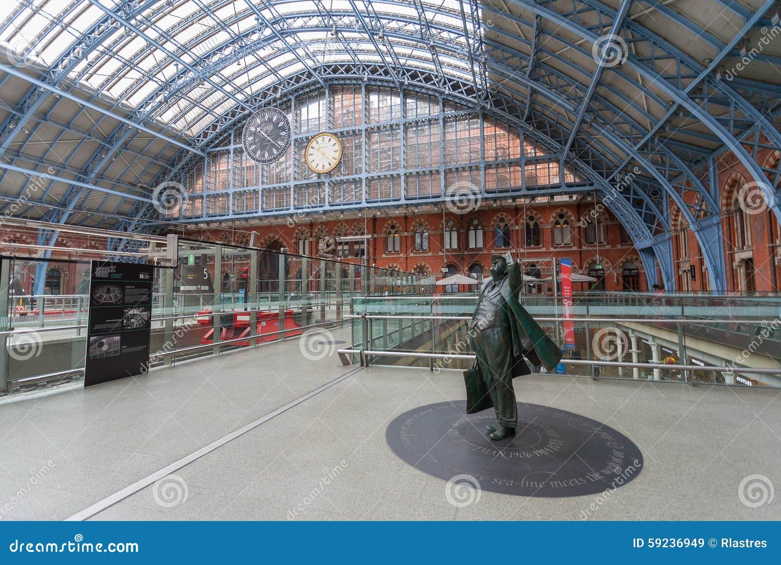 Download Estación Internacional De St Pancras En Londres Imagen de archivo editorial - Imagen de londres, viajero: 59236949