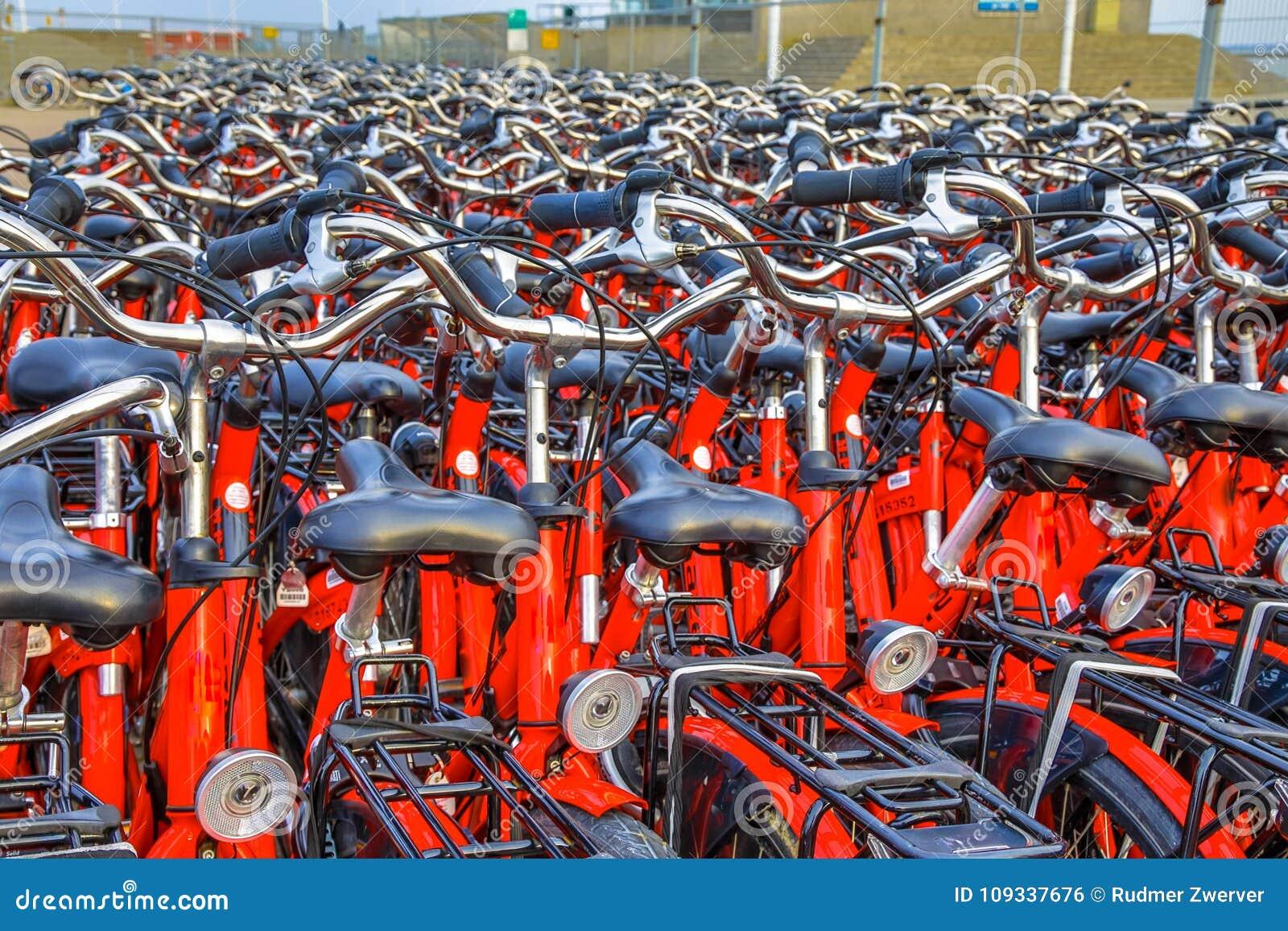 Estacionamento alugado da bicicleta
