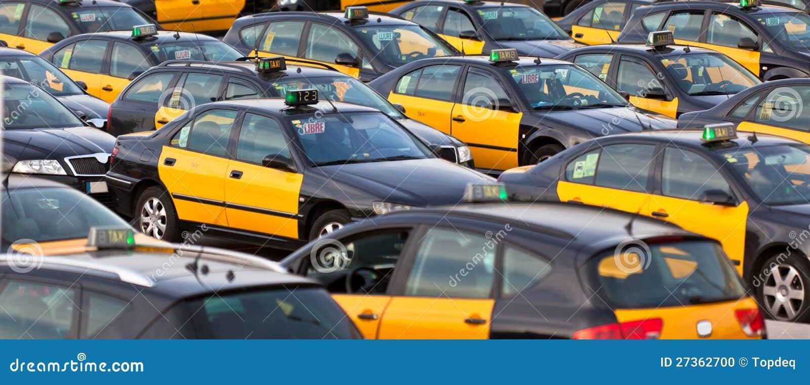 Estacionamiento del taxi