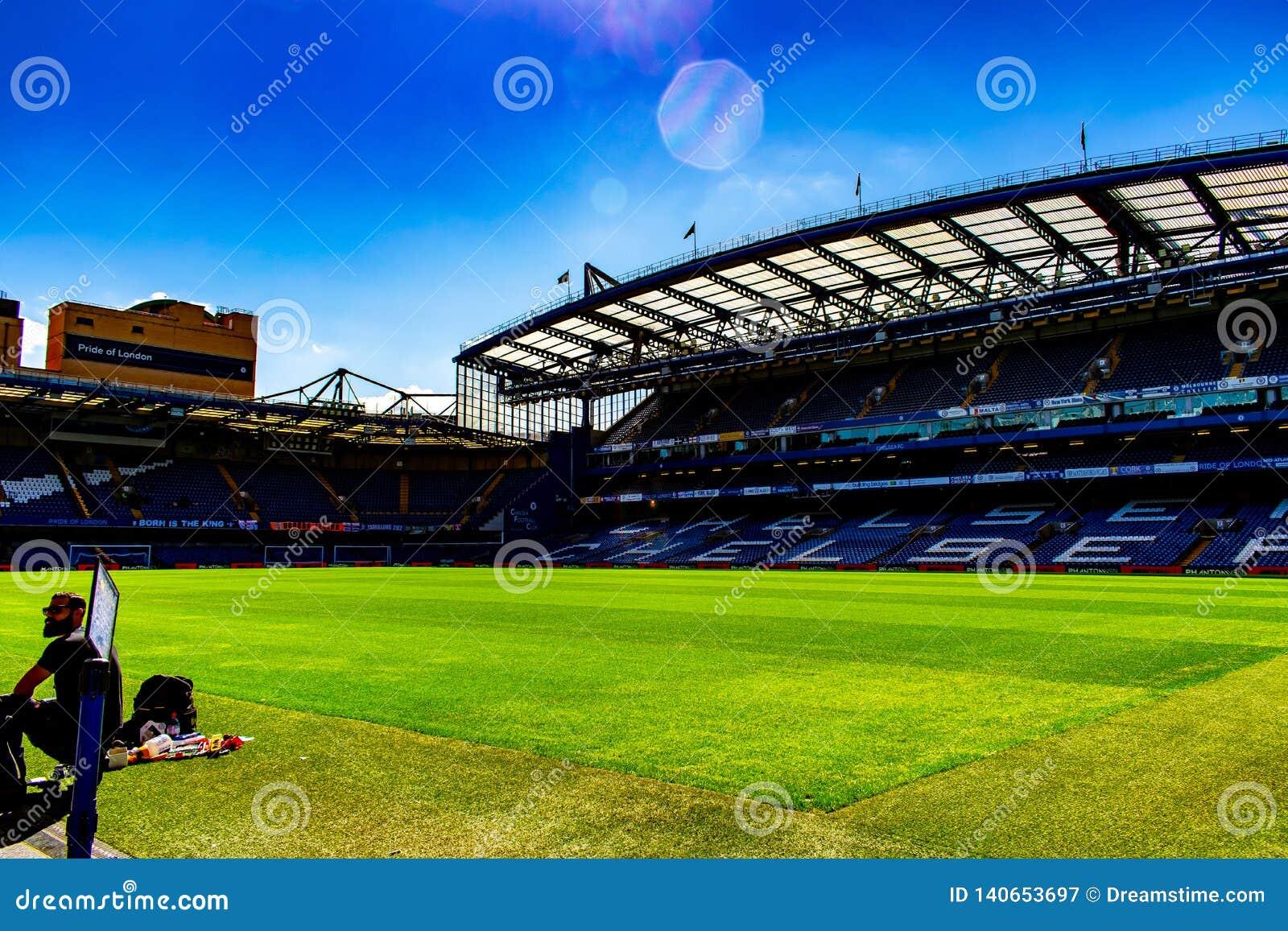 Estadio de fútbol del puente de Stamford para Chelsea Club