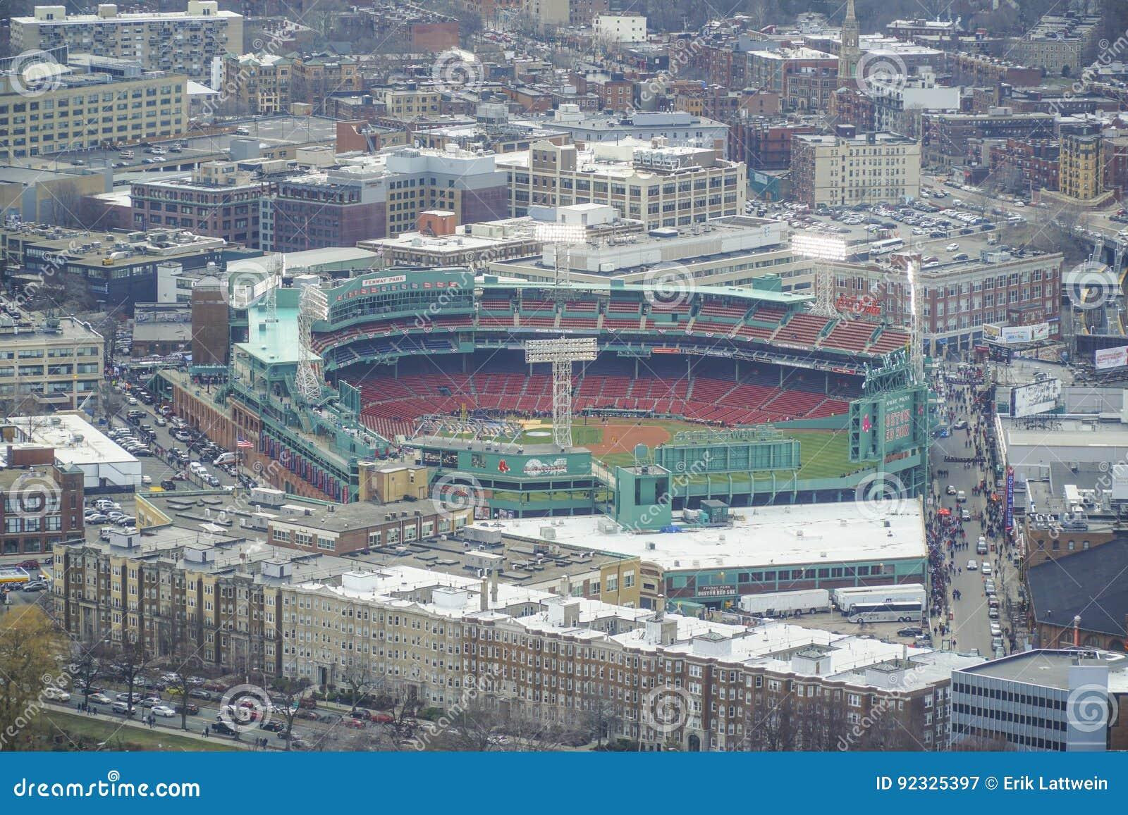 Estadio De Fenway Park En Boston - Visión Aérea - BOSTON ...