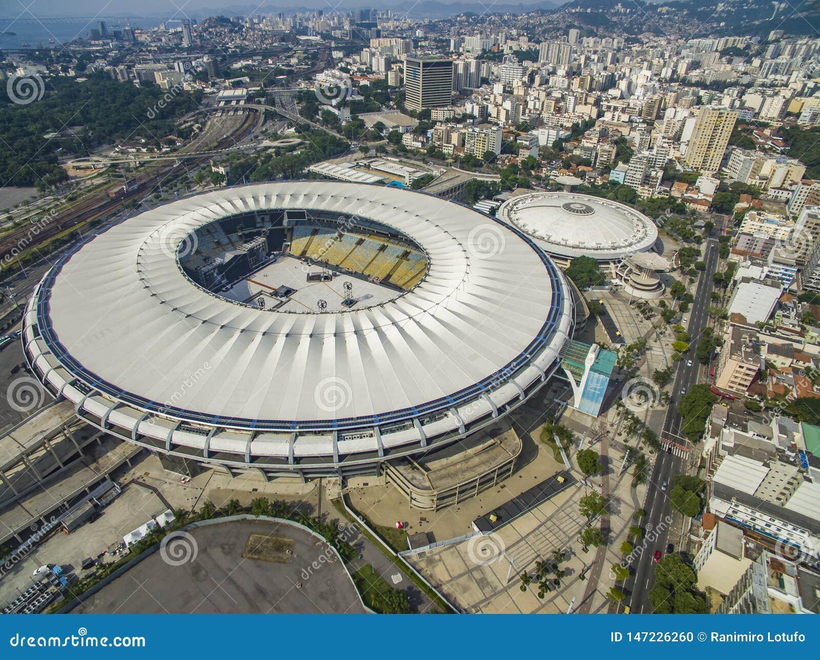 Estadio de Maracana F?tbol brasile?o Ciudad de Rio de Janeiro, el Brasil Suram?rica