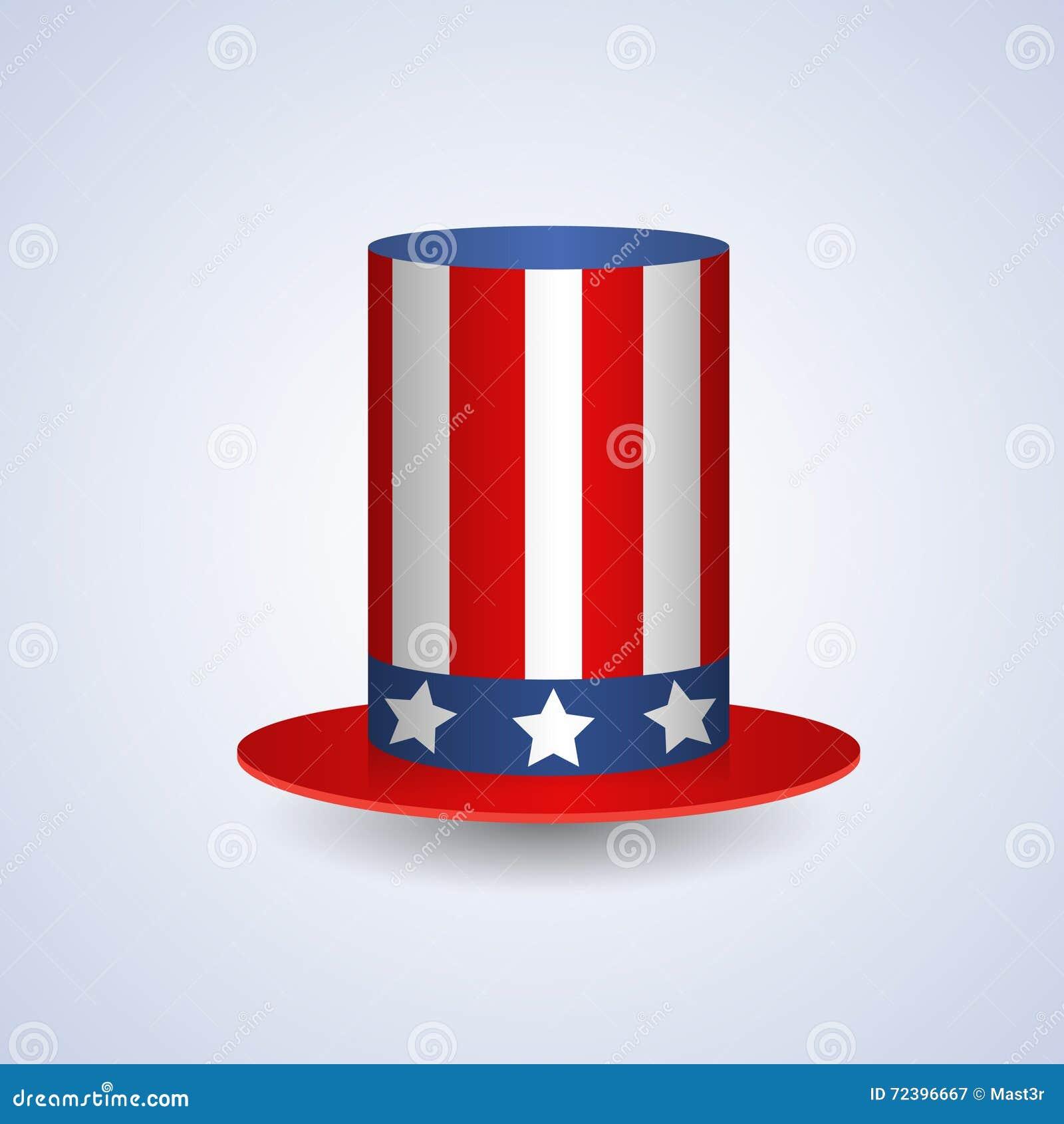Estados Unidos Señalan El Símbolo Americano Coloreado Del Sombrero ...