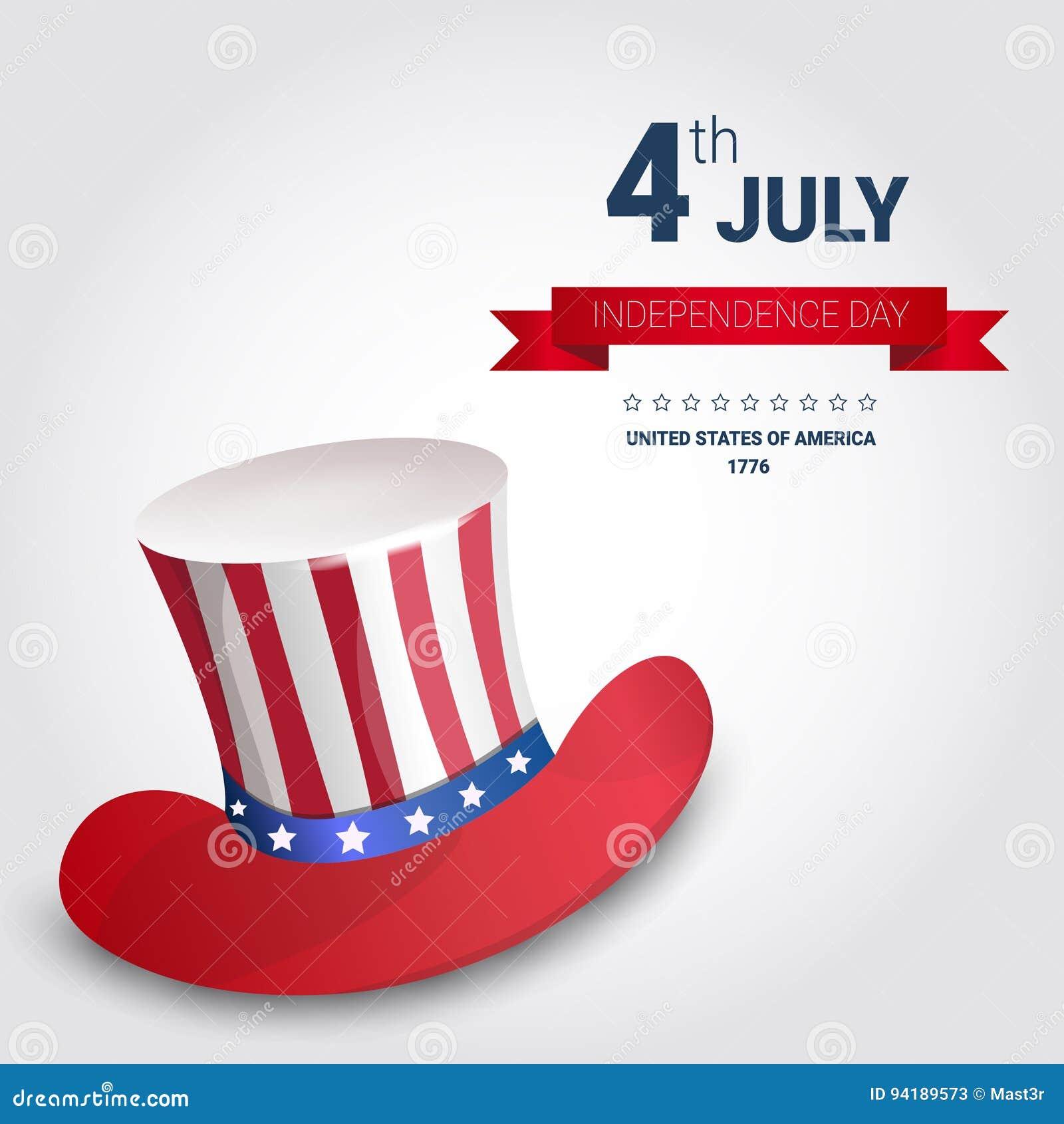 Estados Unidos Señalan Sombrero Día De La Independencia Día De ...