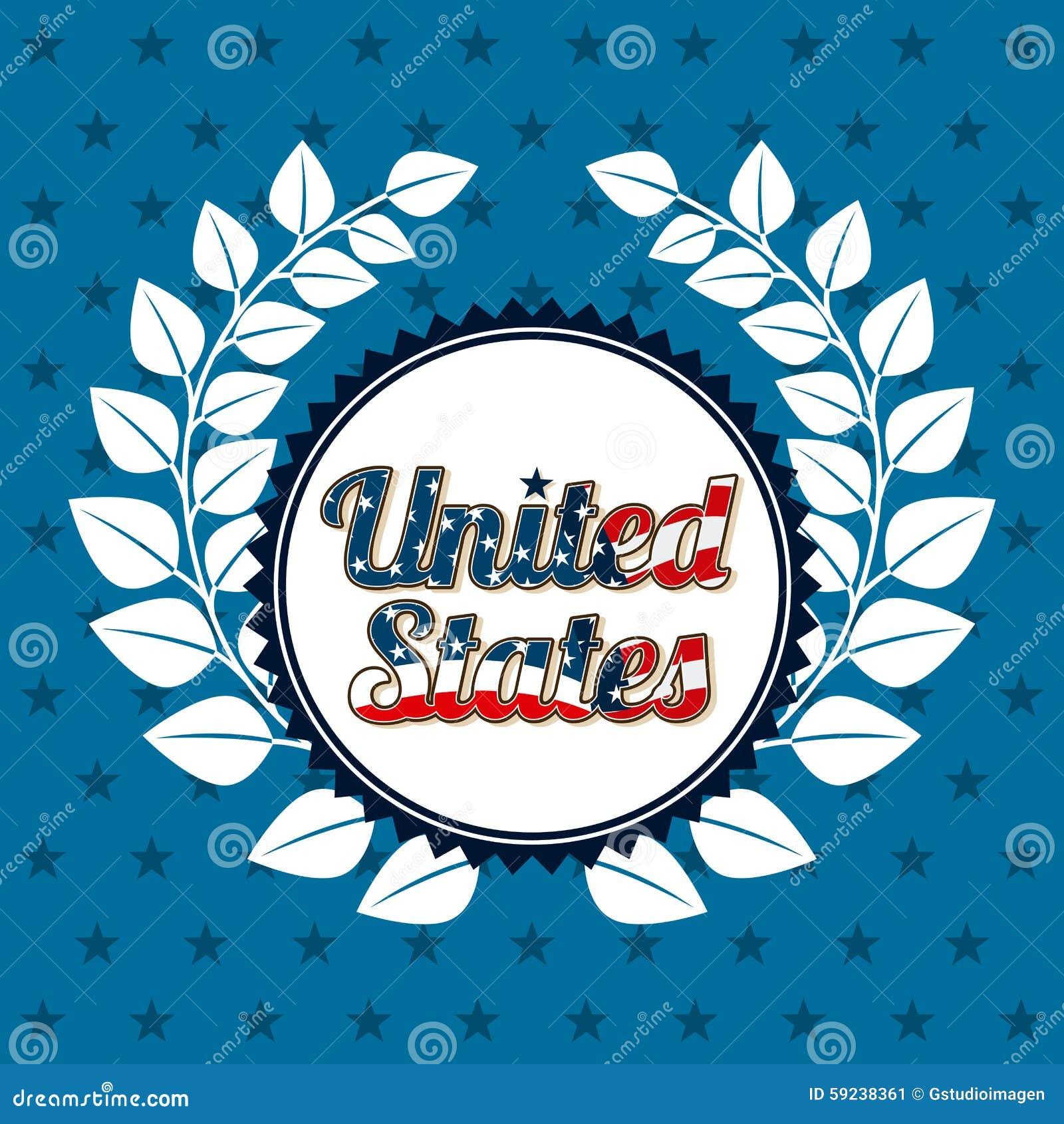 Download Estados Unidos simbolizan ilustración del vector. Ilustración de ilustración - 59238361