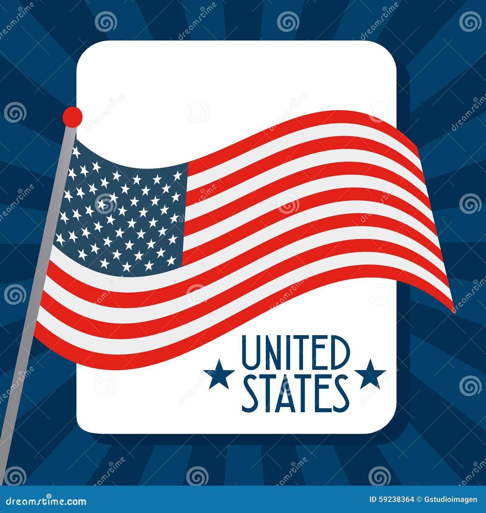 Download Estados Unidos simbolizan ilustración del vector. Ilustración de estrellas - 59238364