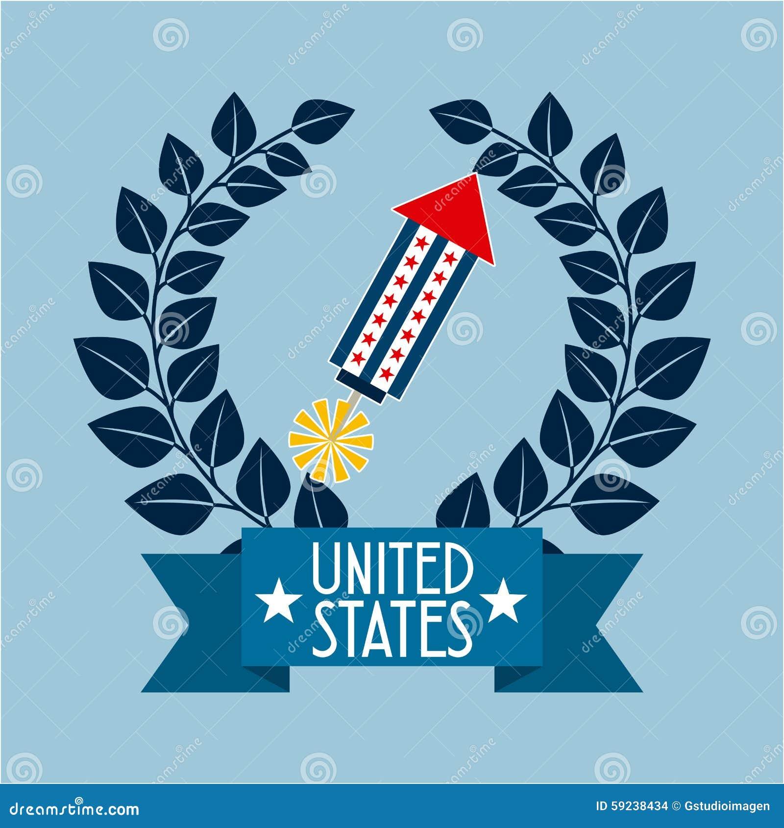 Download Estados Unidos simbolizan ilustración del vector. Ilustración de gobierno - 59238434