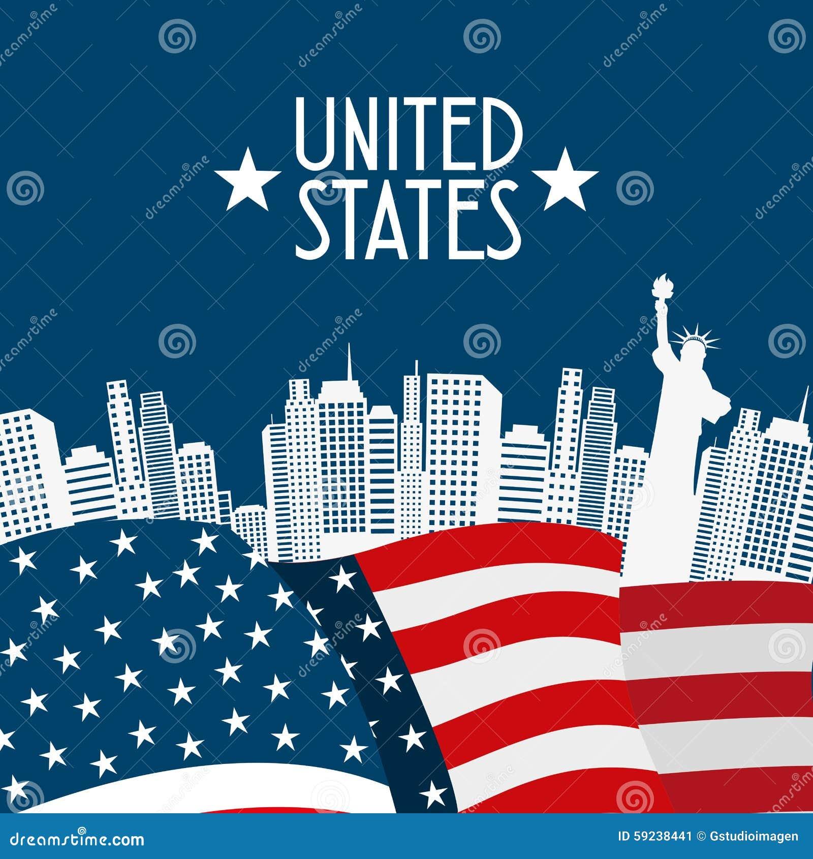 Download Estados Unidos simbolizan ilustración del vector. Ilustración de fondo - 59238441