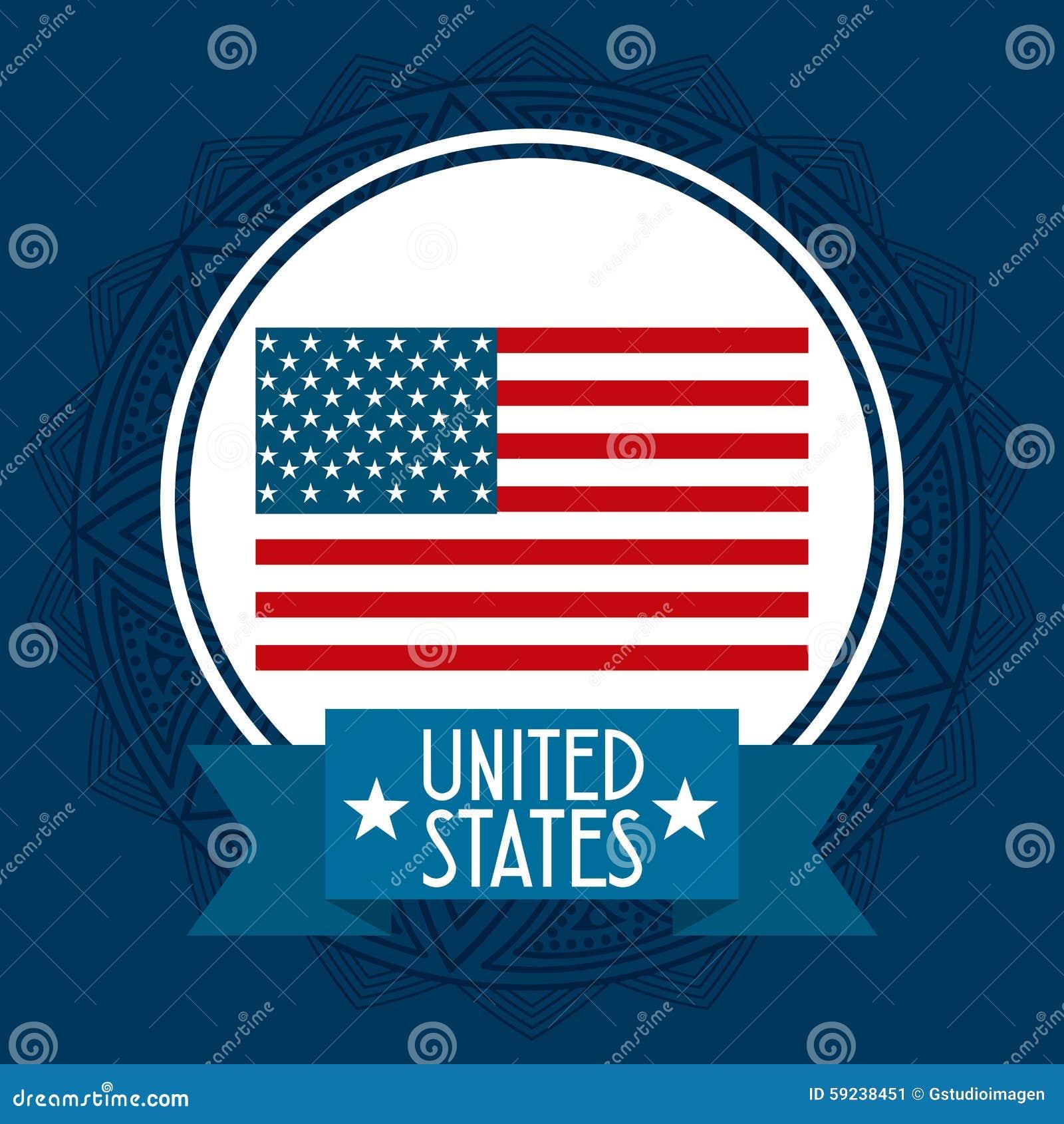 Download Estados Unidos simbolizan ilustración del vector. Ilustración de américa - 59238451