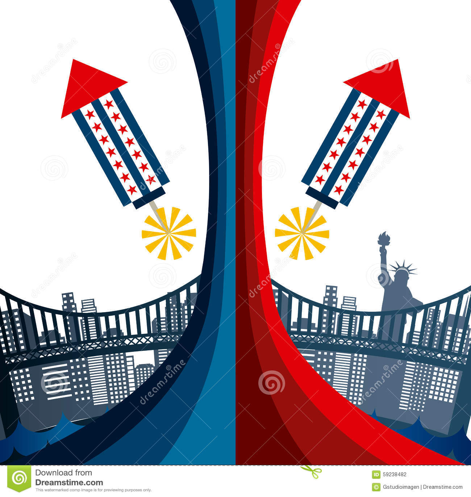 Download Estados Unidos simbolizan ilustración del vector. Ilustración de patriótico - 59238482