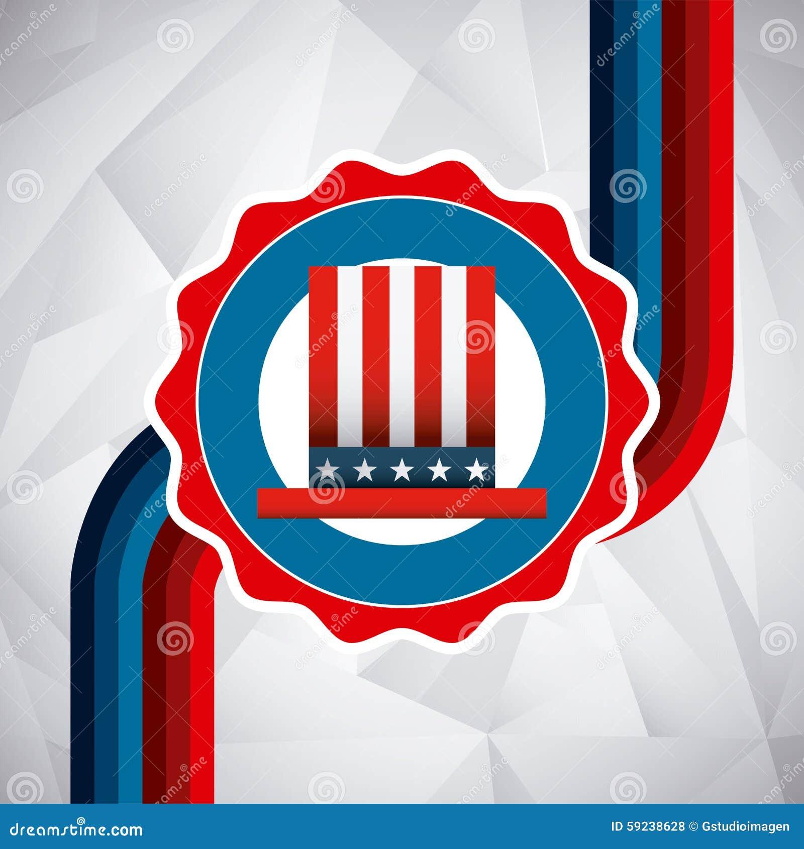 Download Estados Unidos simbolizan ilustración del vector. Ilustración de gobierno - 59238628