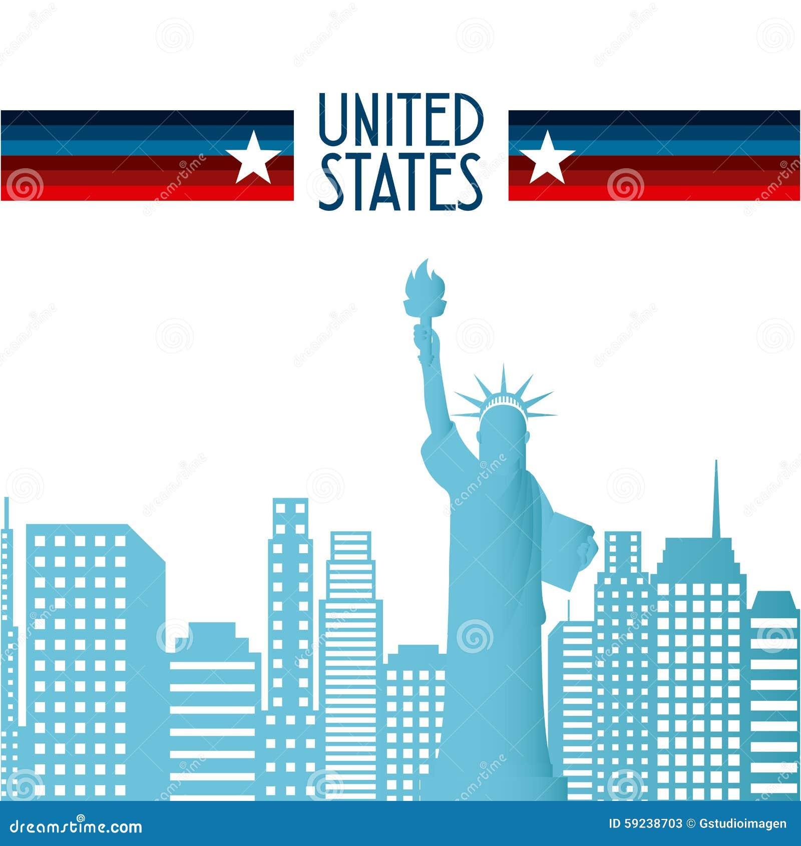 Download Estados Unidos simbolizan ilustración del vector. Ilustración de decorativo - 59238703