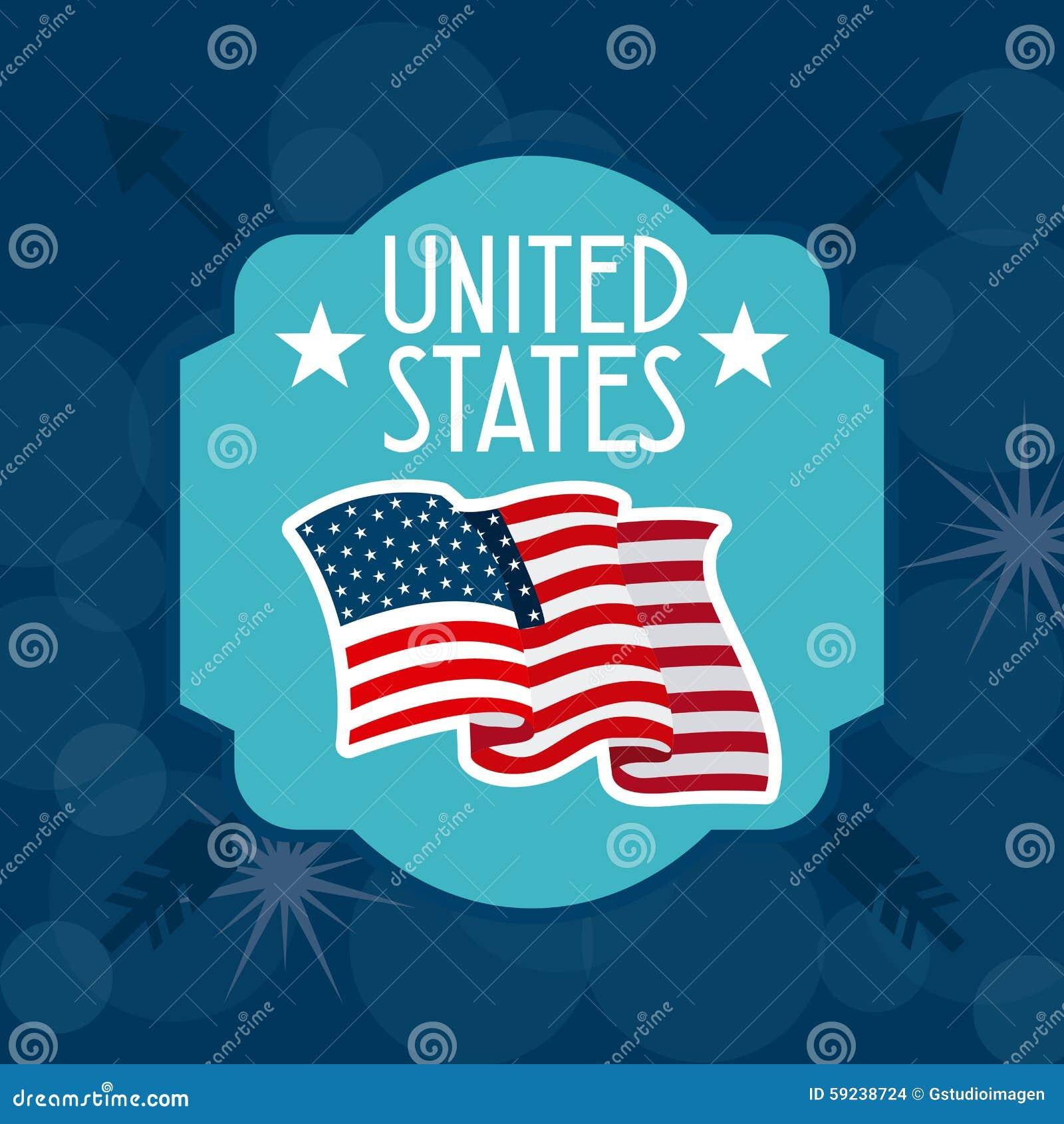 Download Estados Unidos simbolizan ilustración del vector. Ilustración de americano - 59238724