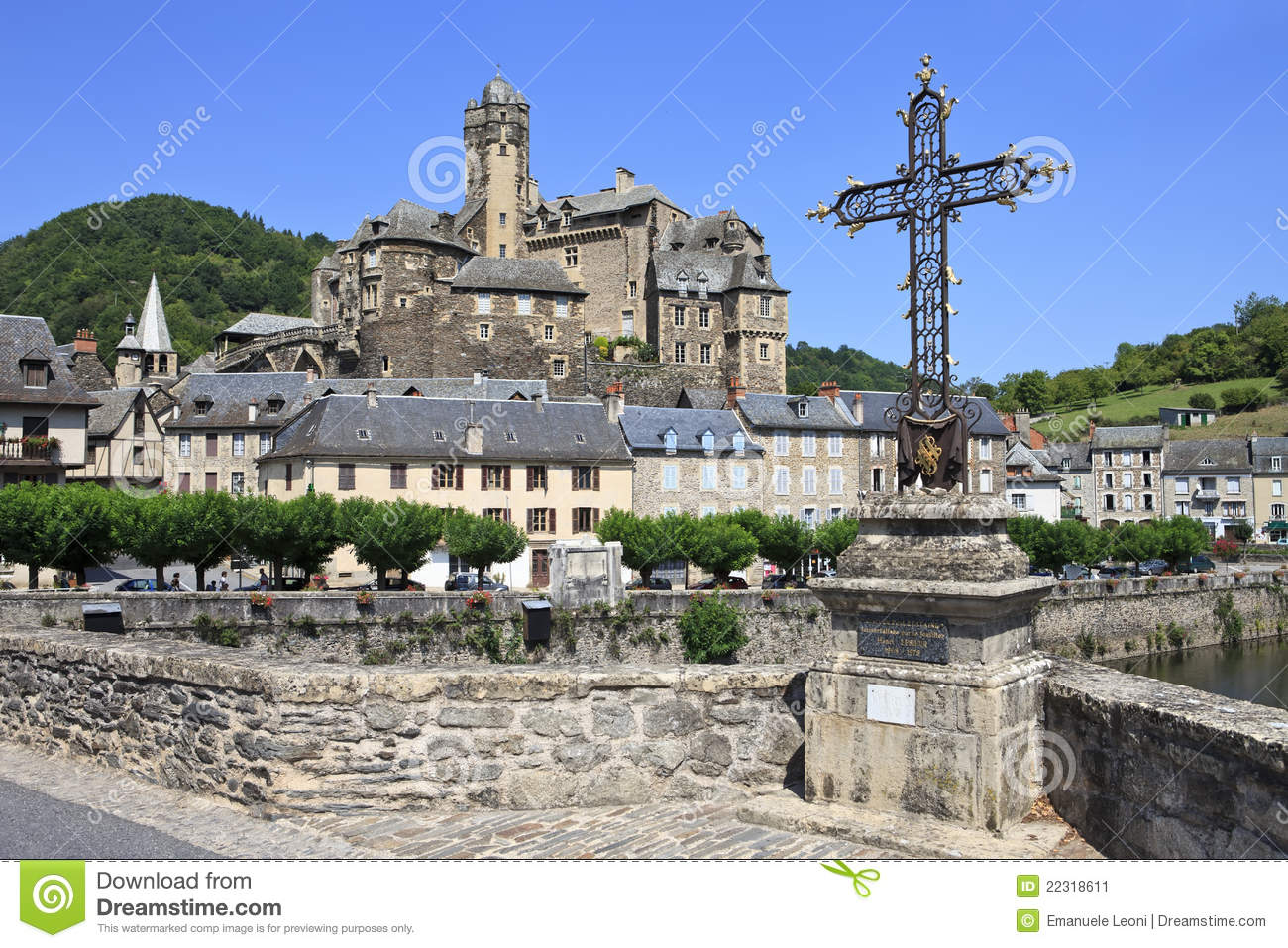 Estaing Village In Southern France Stock Image - Image of