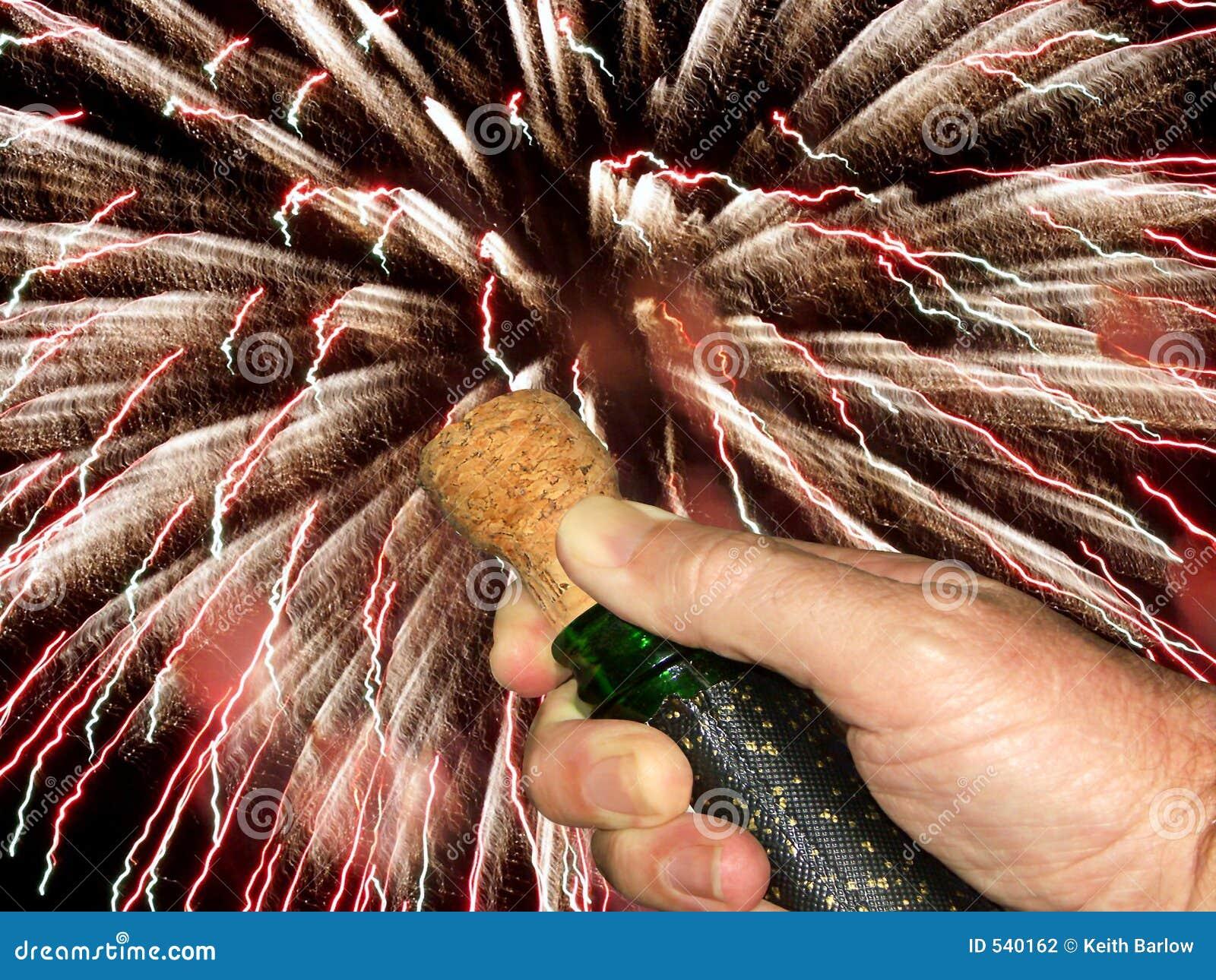 Estalando a cortiça do champanhe