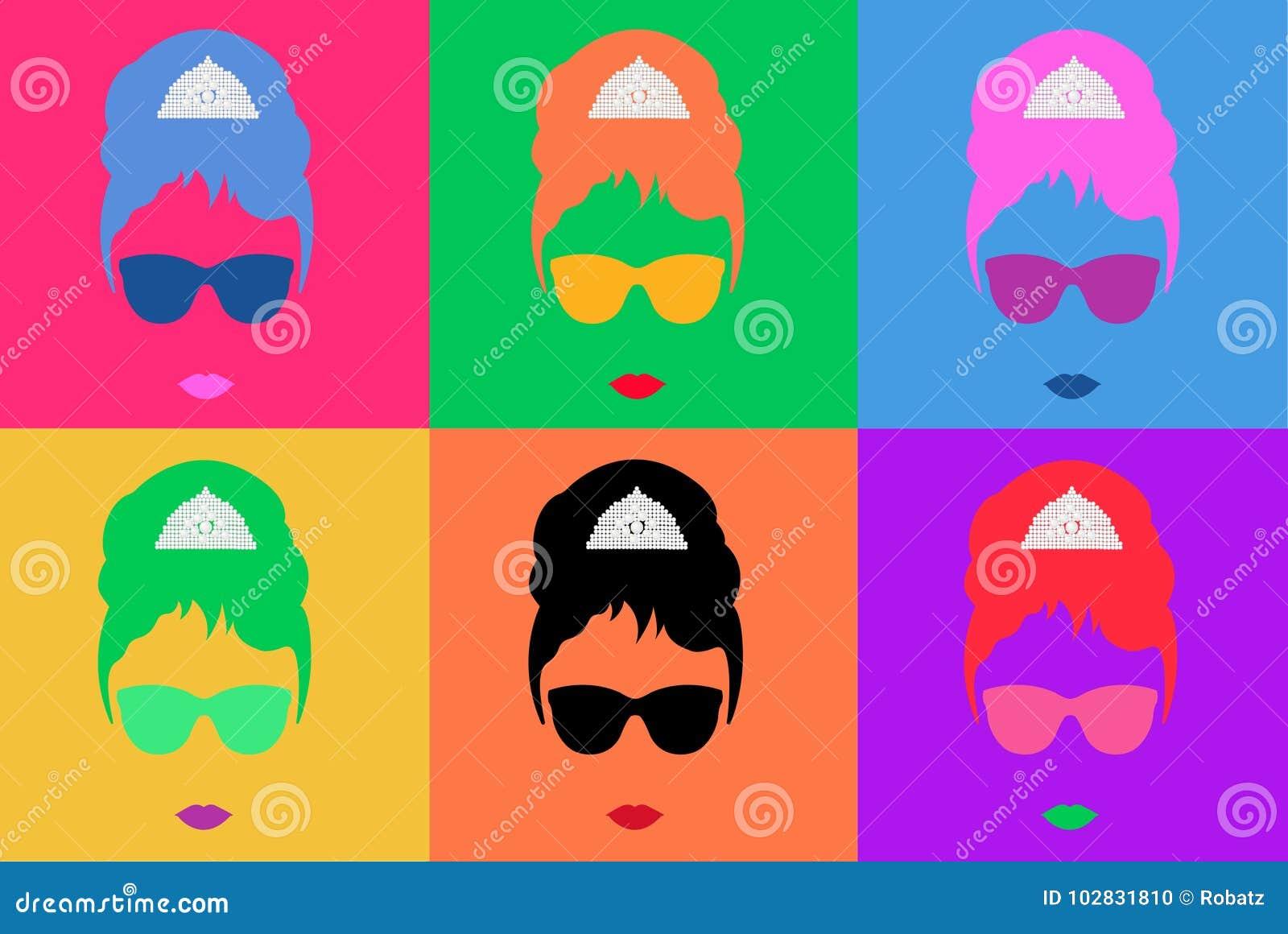 Estallido Coloreado Art Style Andy Warhol Del Ejemplo Del Vector ...
