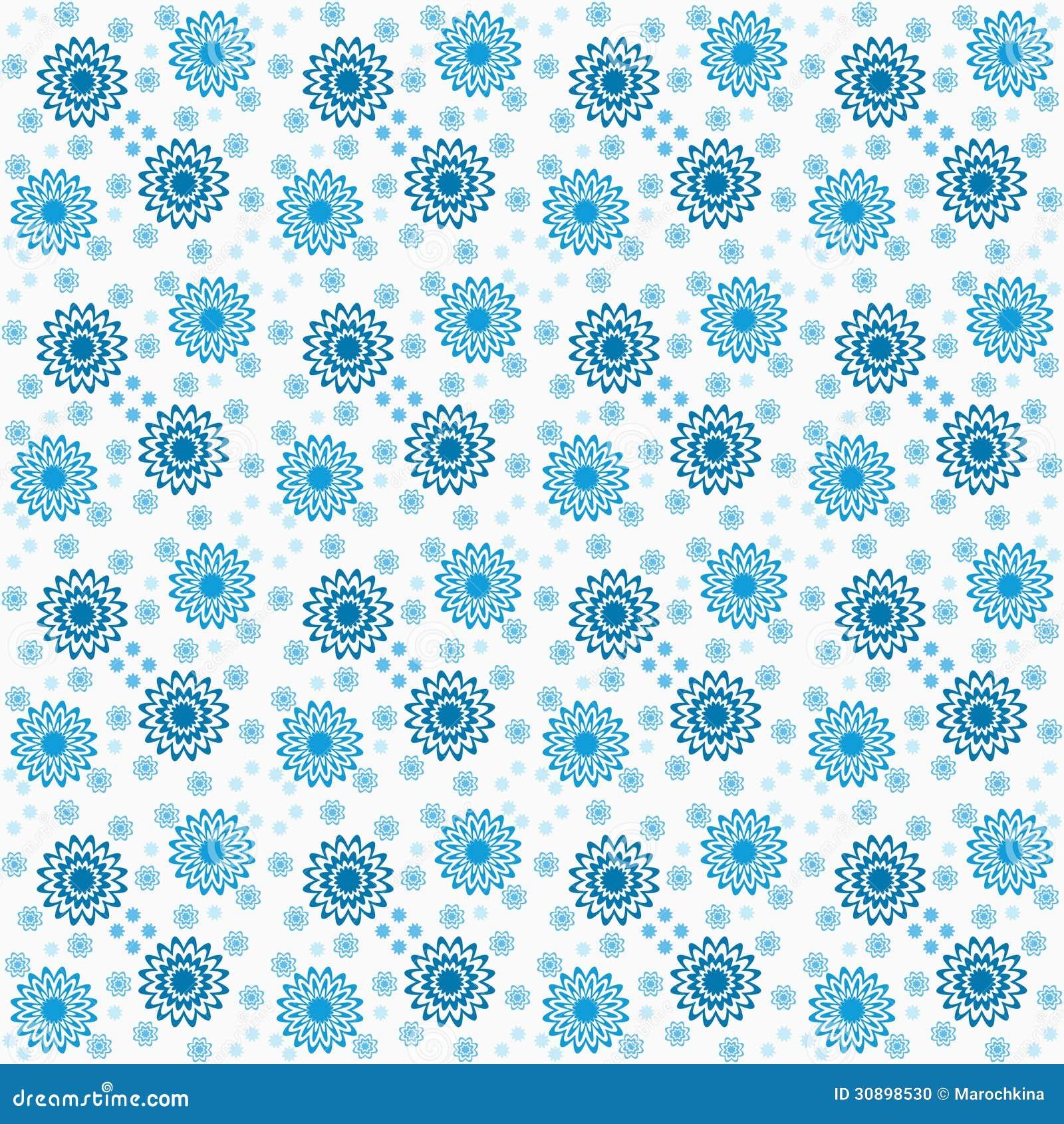 Estampado de flores stock de ilustraci n ilustraci n de for Papel decorativo azul