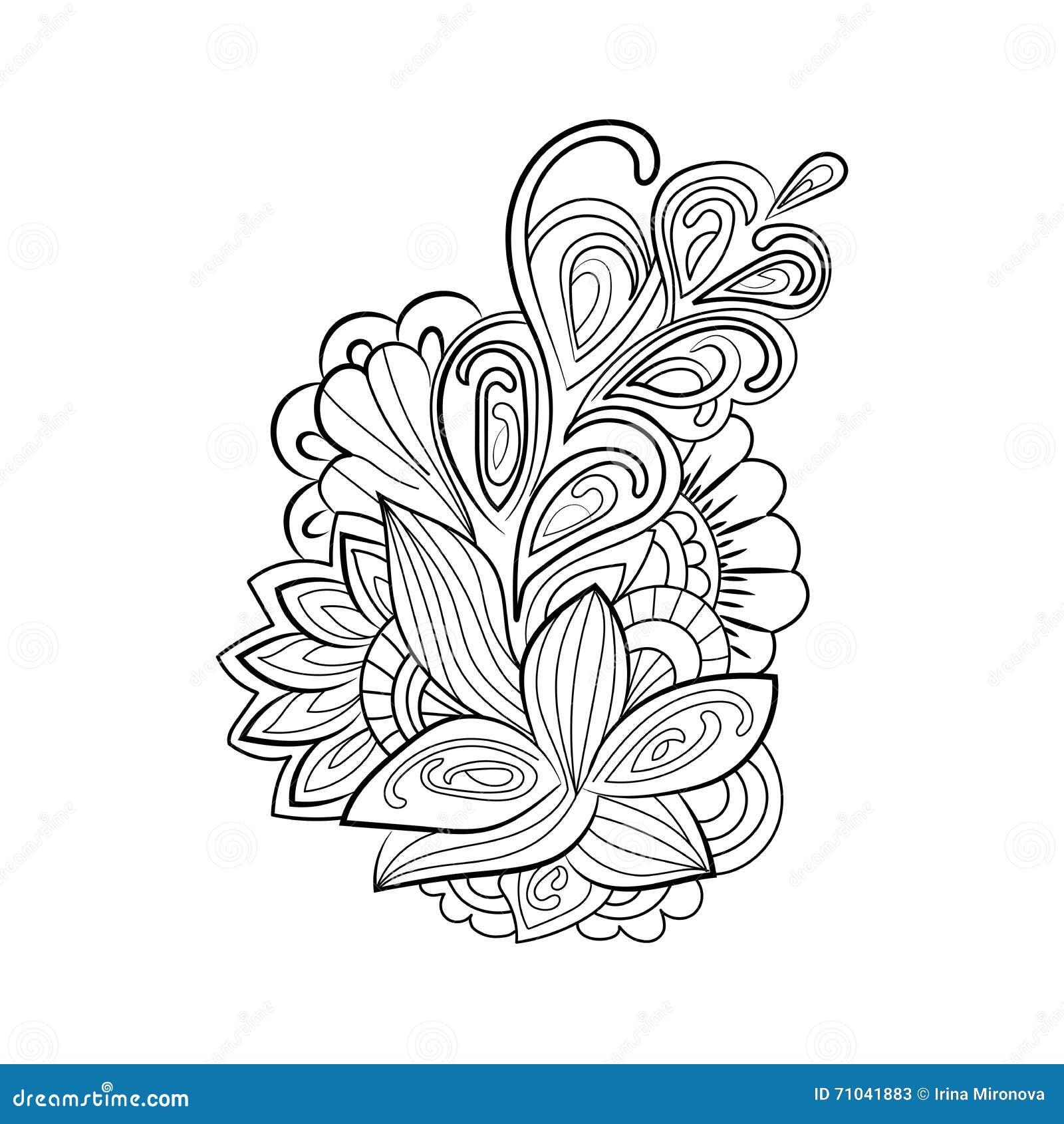 Estampado De Flores De Zentangle Ilustracion Del Vector
