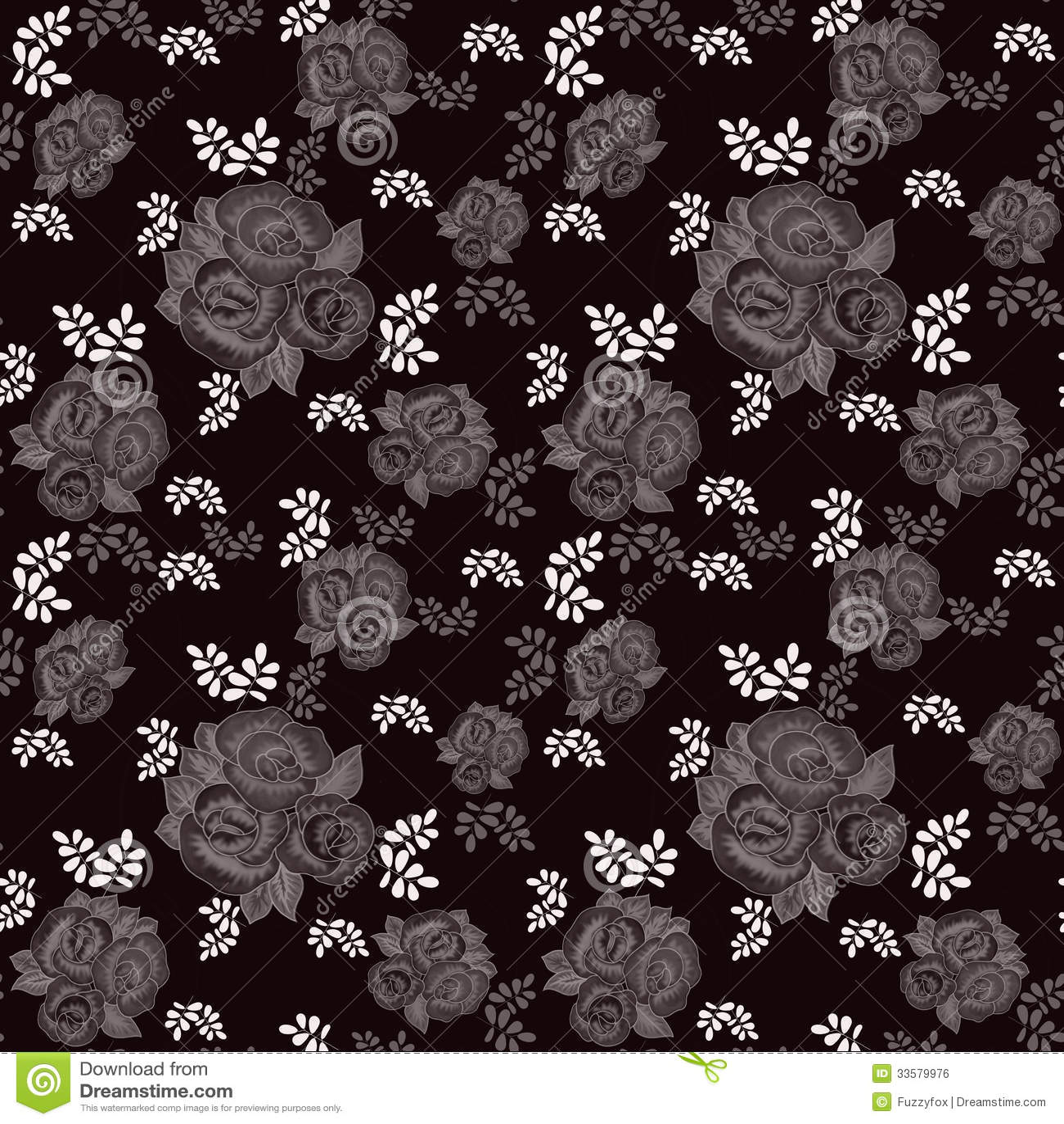 Estampado flores fondo negro