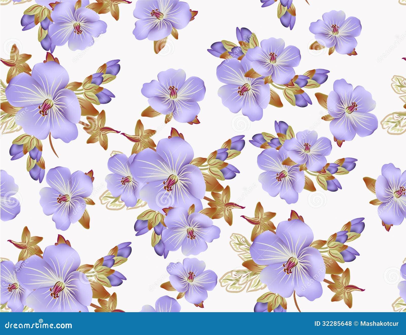 Estampado de flores hermoso del vector para el dise o del for Papel pintado estampado